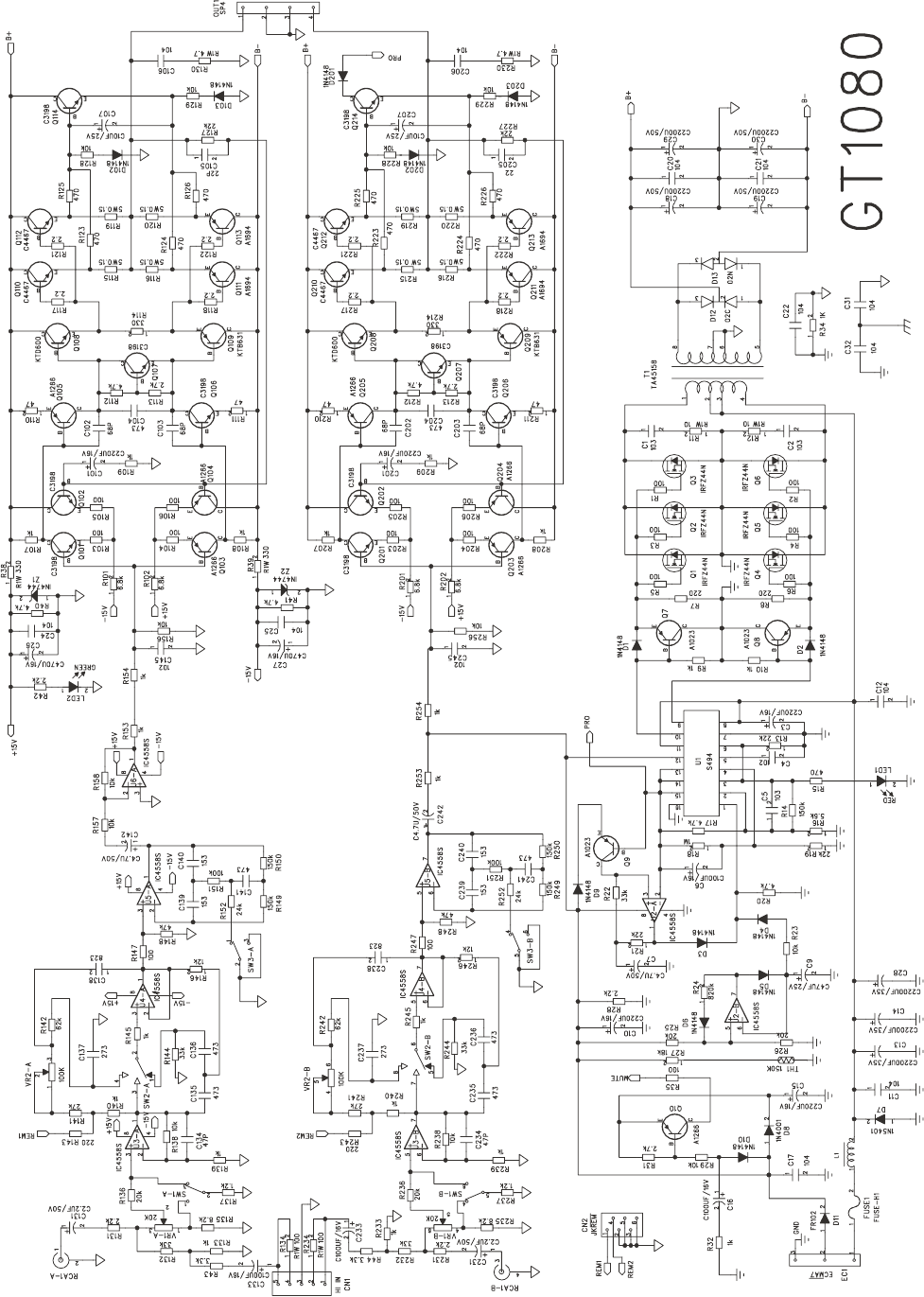 Page 5 of Boss Audio Systems Car Amplifier GT1080 User Guide