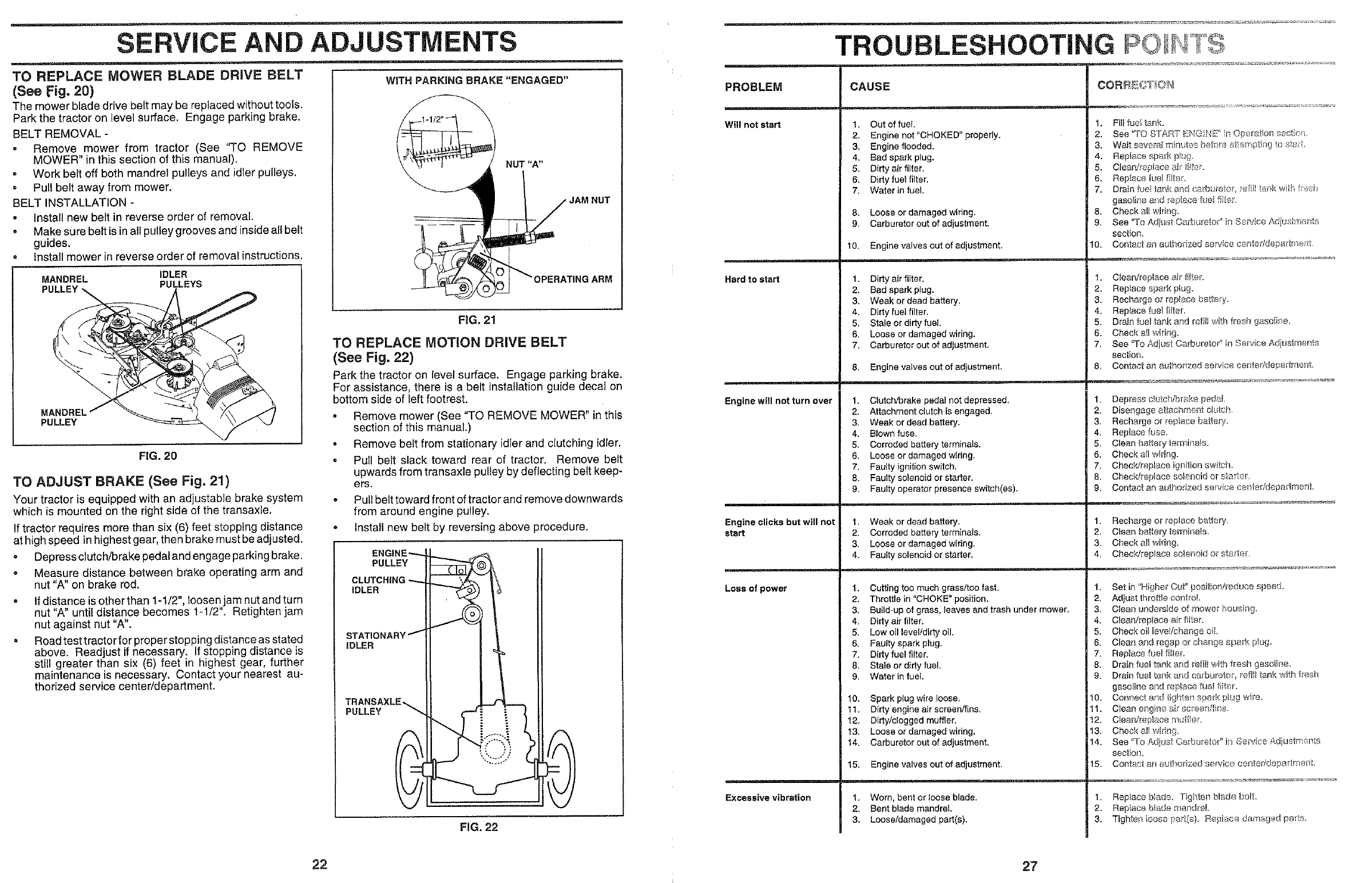 Page 22 of Poulan Lawn Mower HD14542B User Guide | ManualsOnline com