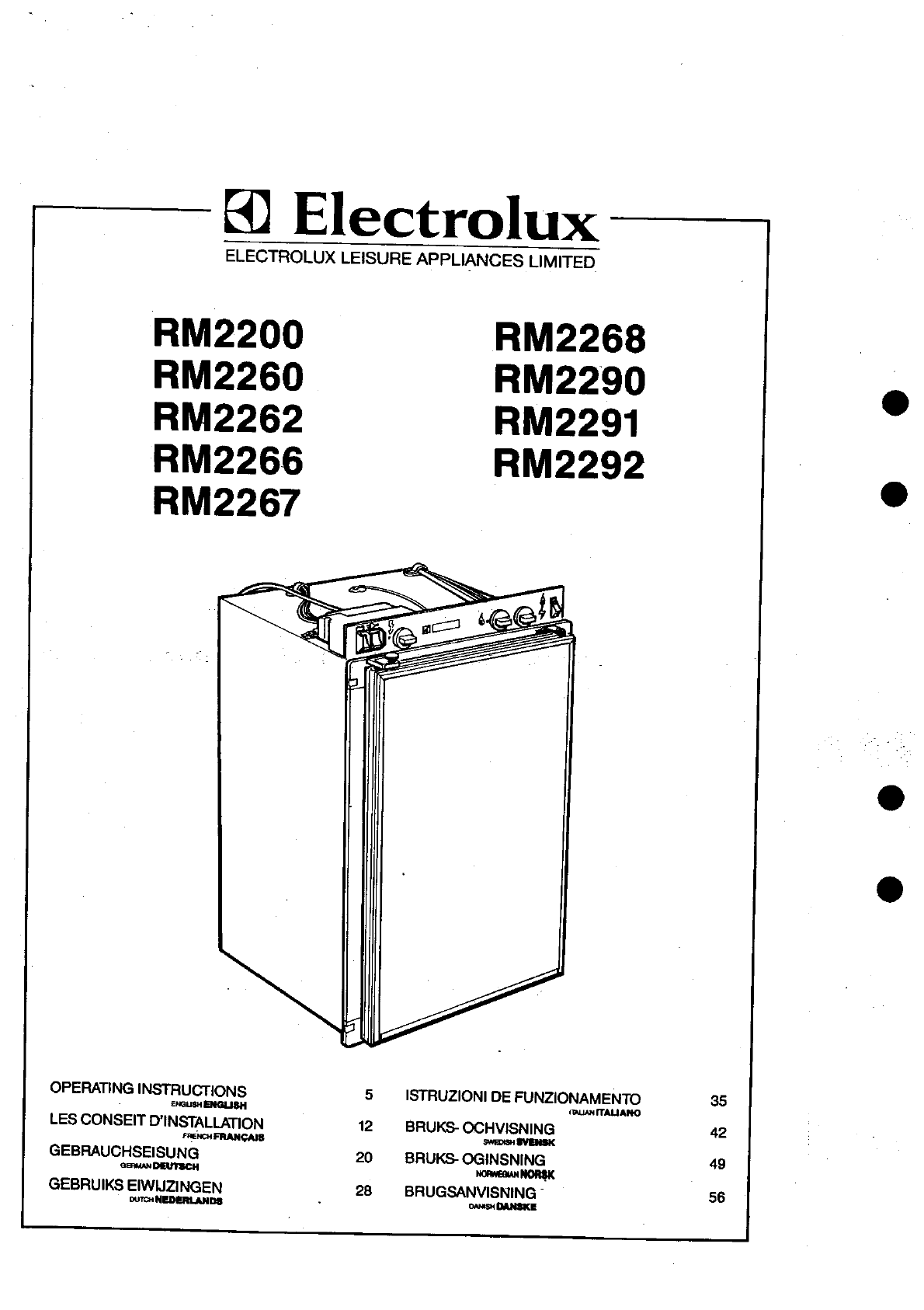 electrolux oven instructions manual