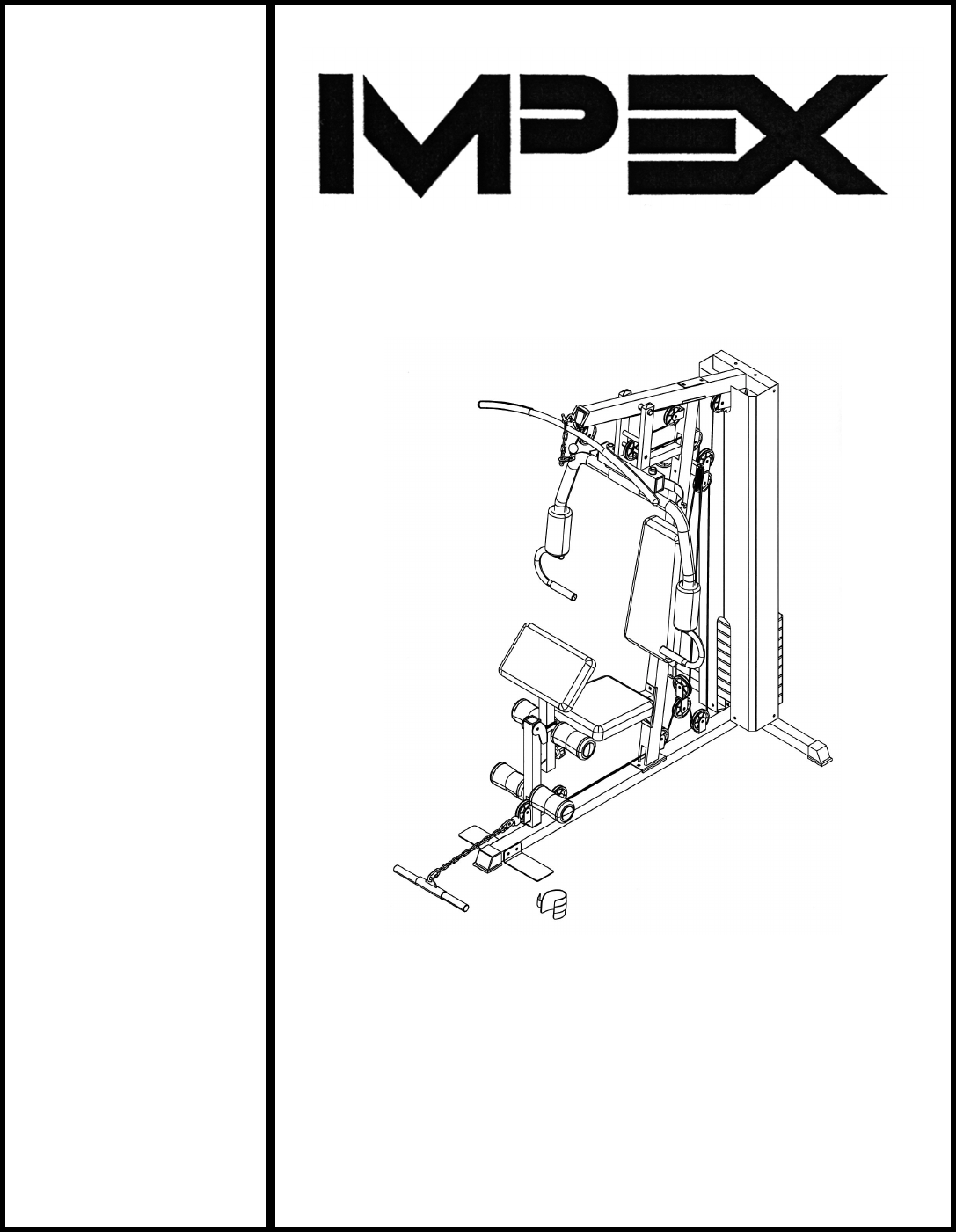 impex home gym mwm 1558 user guide manualsonline com rh office manualsonline com Impex Fitness Manual Marcy by Impex Manual