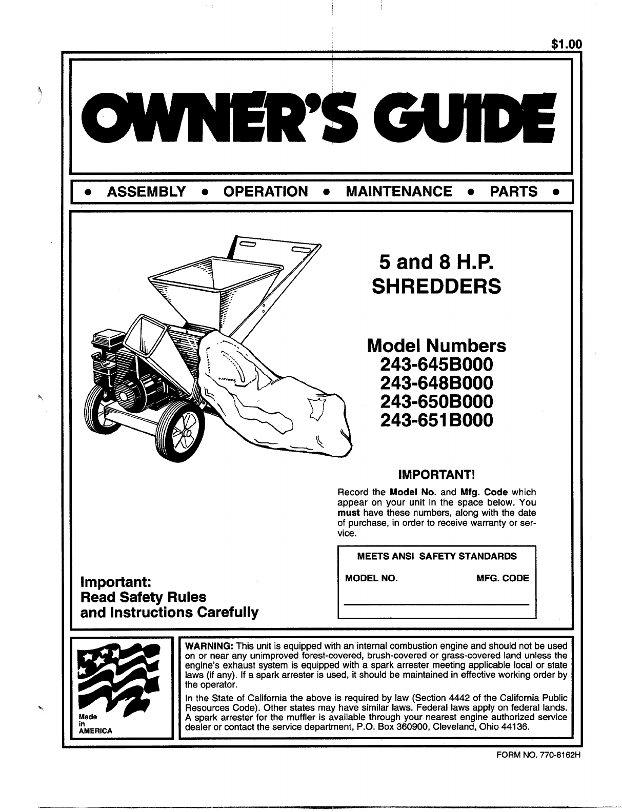 mtd chipper 243 645b000 user guide manualsonline com sears lawn tractor owners manual online sears lawn tractor owner's manual