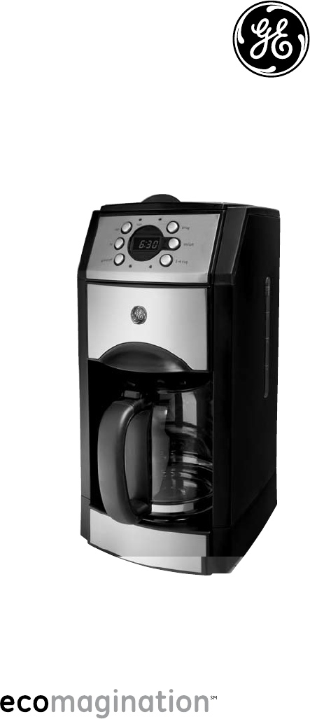 ge coffeemaker 169122 user guide manualsonline com rh kitchen manualsonline com Instruction Manual Example Owner's Manual