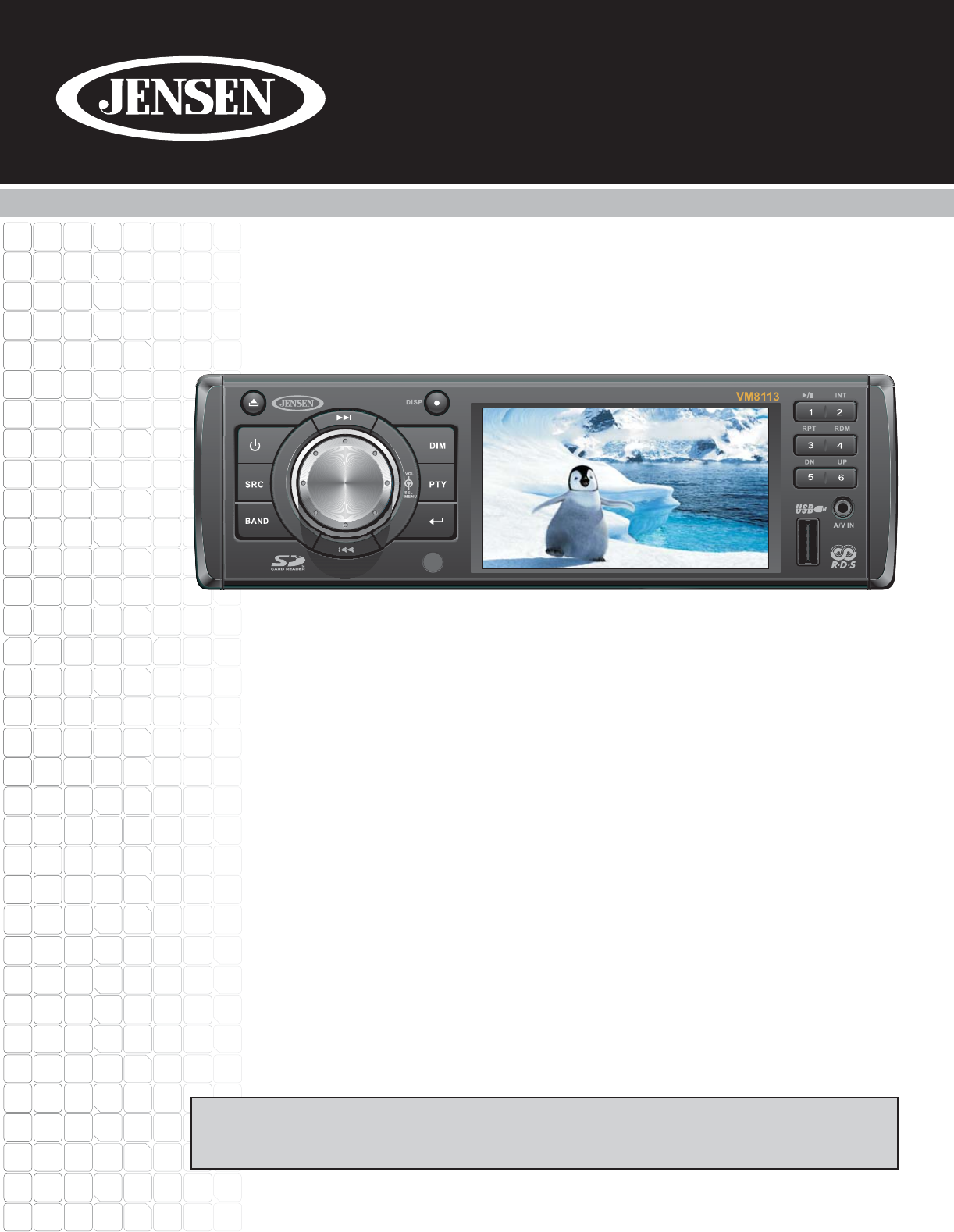 jensen car video system vm8113 user guide manualsonline com rh caraudio manualsonline com User Webcast User Training