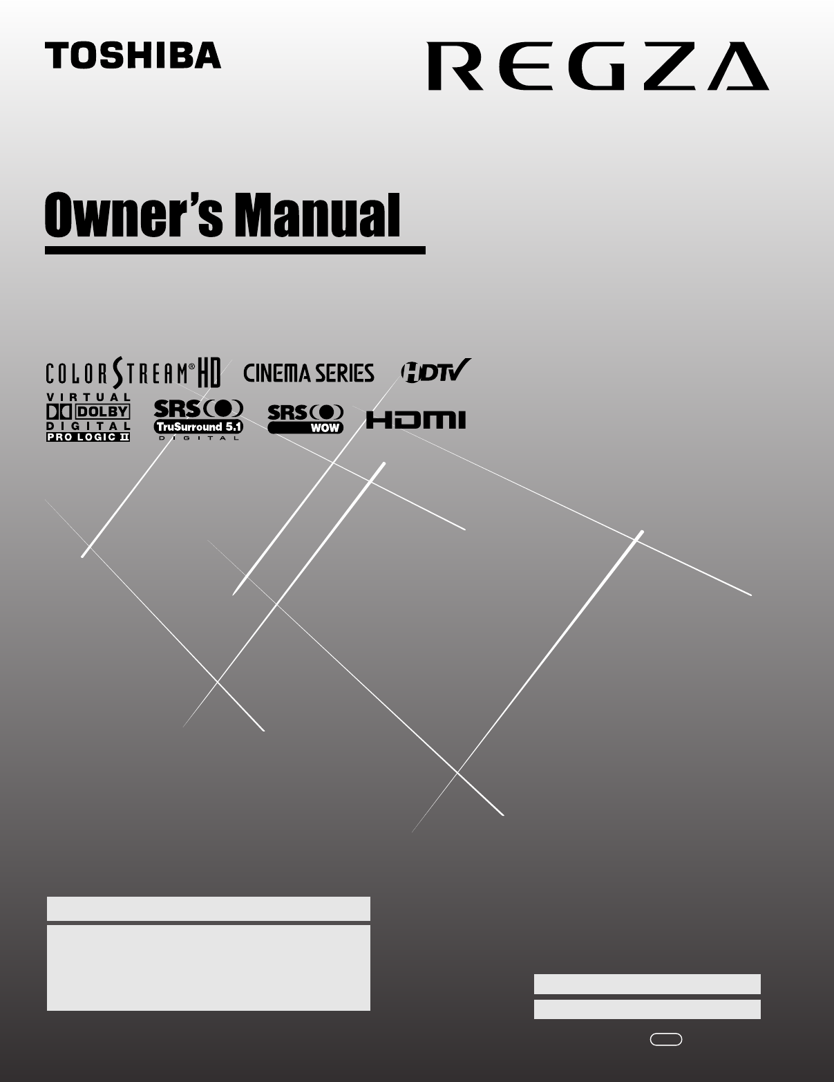 toshiba flat panel television 42lx177 user guide manualsonline com rh tv manualsonline com Toshiba Regza Manual PDF Toshiba Regza 32 Manual