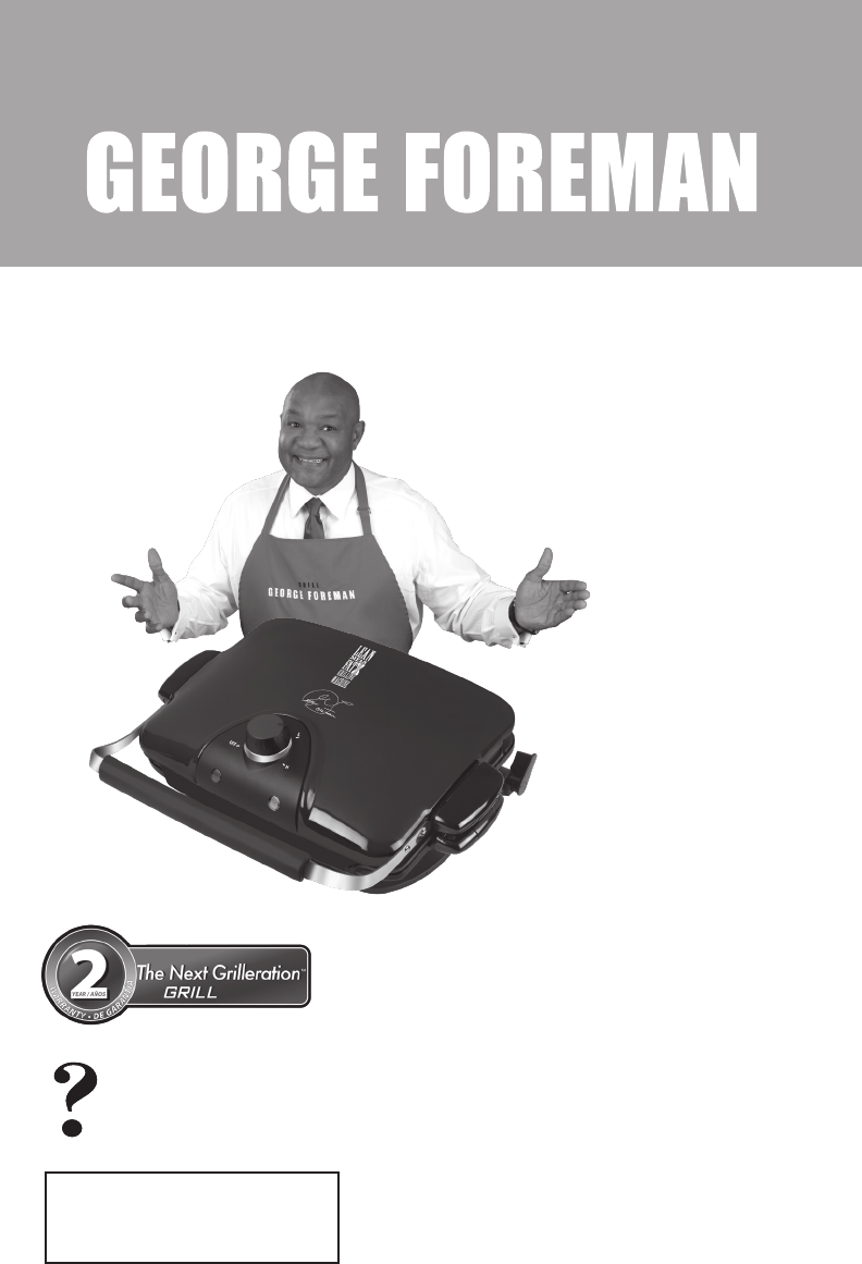 George Foreman Kitchen Grill Grp90wgrq User Guide