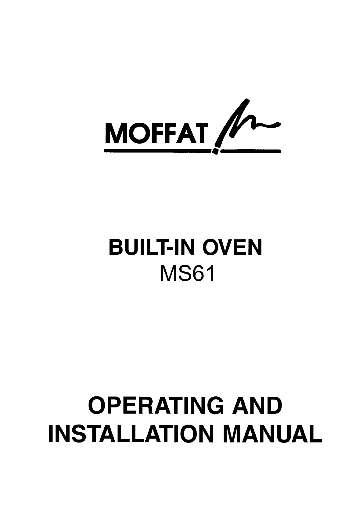 moffat oven ms61 user guide manualsonline com rh kitchen manualsonline com