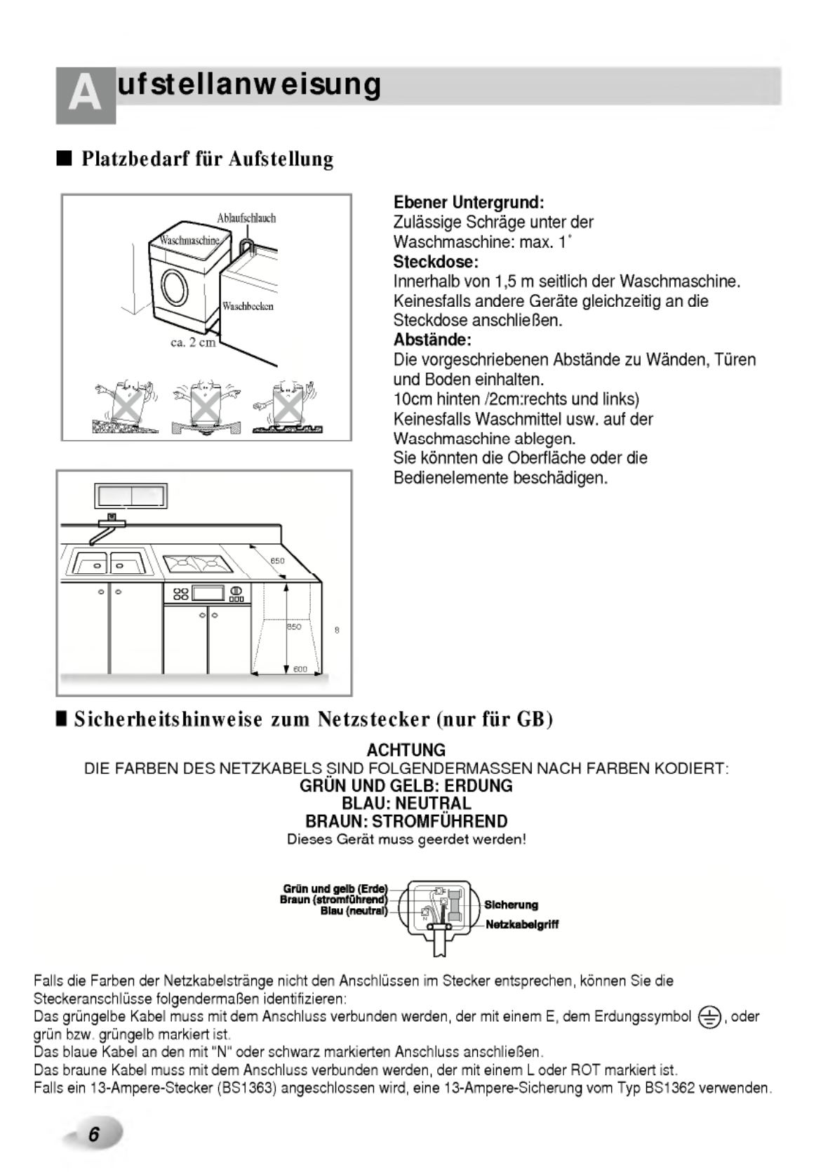 Page 6 of LG Electronics Washer WD-1274(6)FB User Guide ...