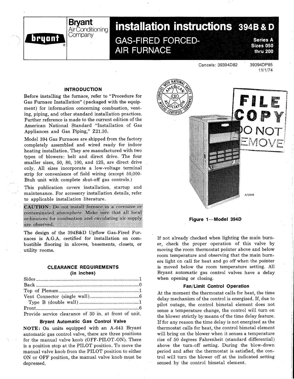 bryant furnace 394d user guide manualsonline com rh homeappliance manualsonline com bryant furnace 383kav service manual Bryant 90-Plus Furnace Manual