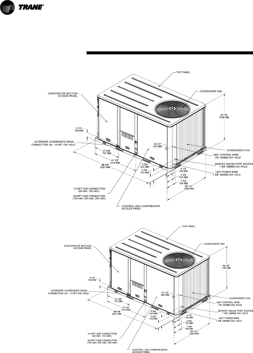 Page 48 of Trane Air Conditioner YSC060 120 User Guide