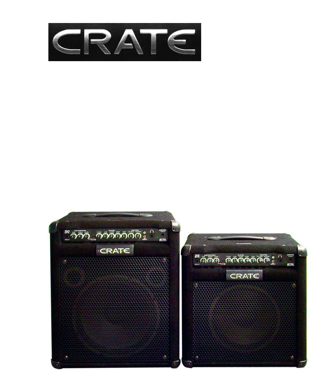 crate amplifiers speaker system bt25 bt50 user guide manualsonline com rh audio manualsonline com