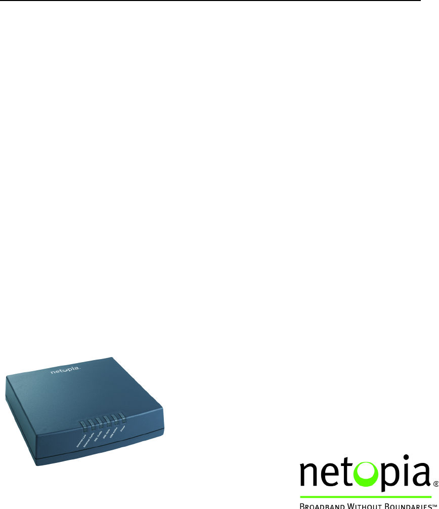 netopia network router 3346n ent user guide manualsonline com rh office manualsonline com Netopia Router Cayman Netopia DSL Modem Router