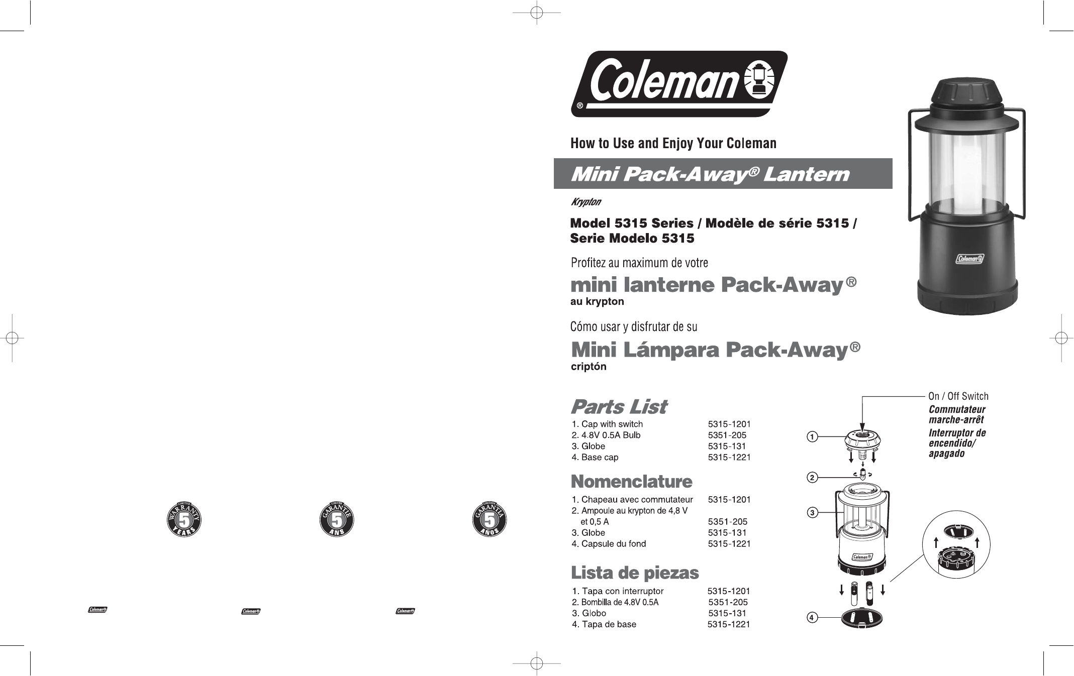 coleman camping equipment 5315 user guide manualsonline com rh tv manualsonline com Coleman Watch 40-372 Coleman Watches for Men