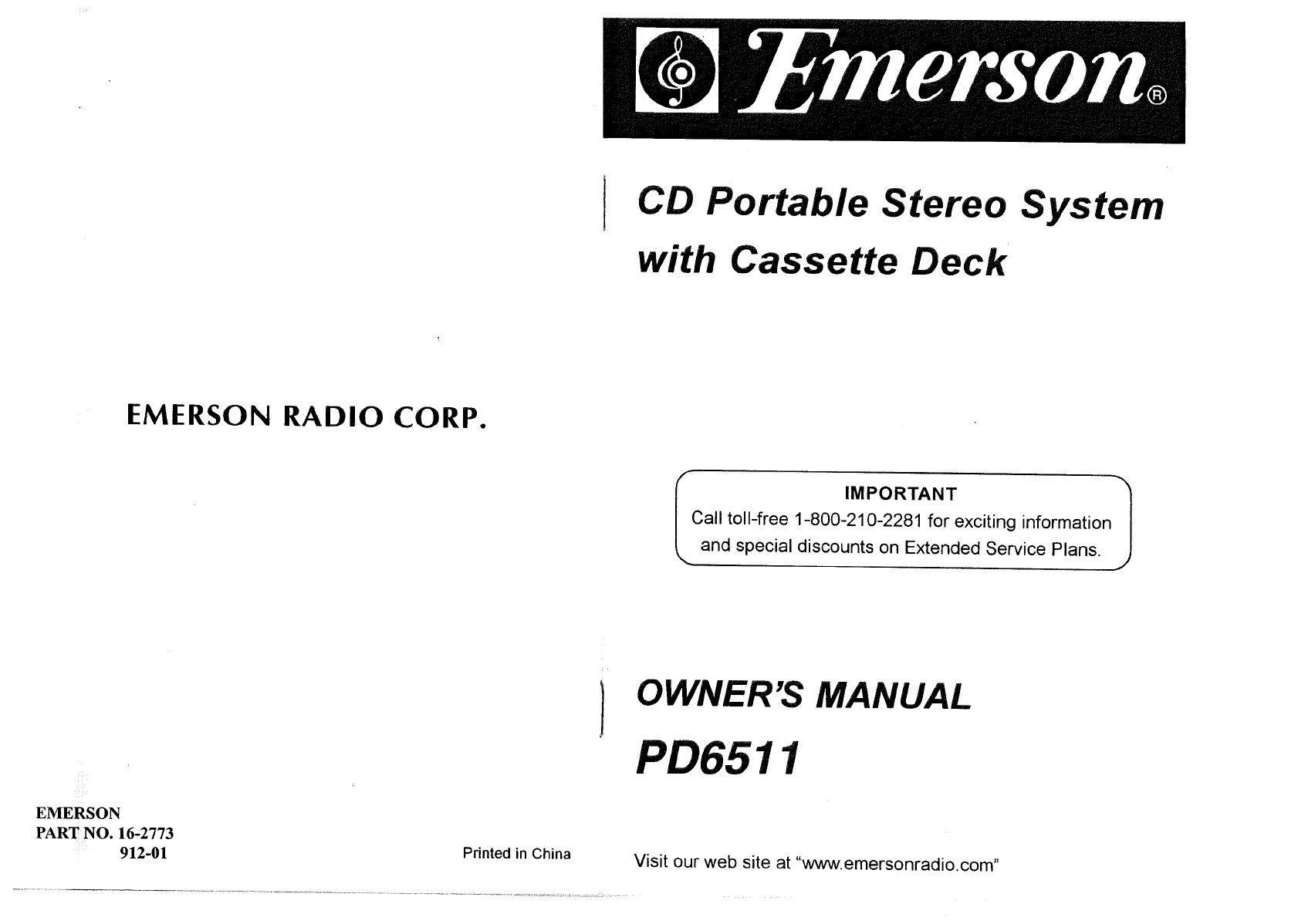 emerson portable cd player pd6511 user guide manualsonline com rh tv manualsonline com emerson clock radio cd player manual Emerson CD and Cassette Player