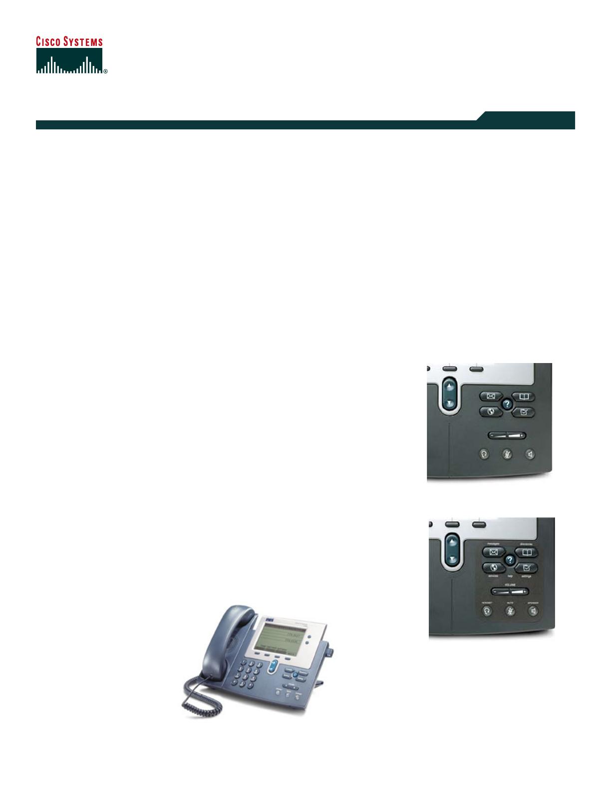 Cisco Systems IP Phone 7940G User Guide   ManualsOnline com