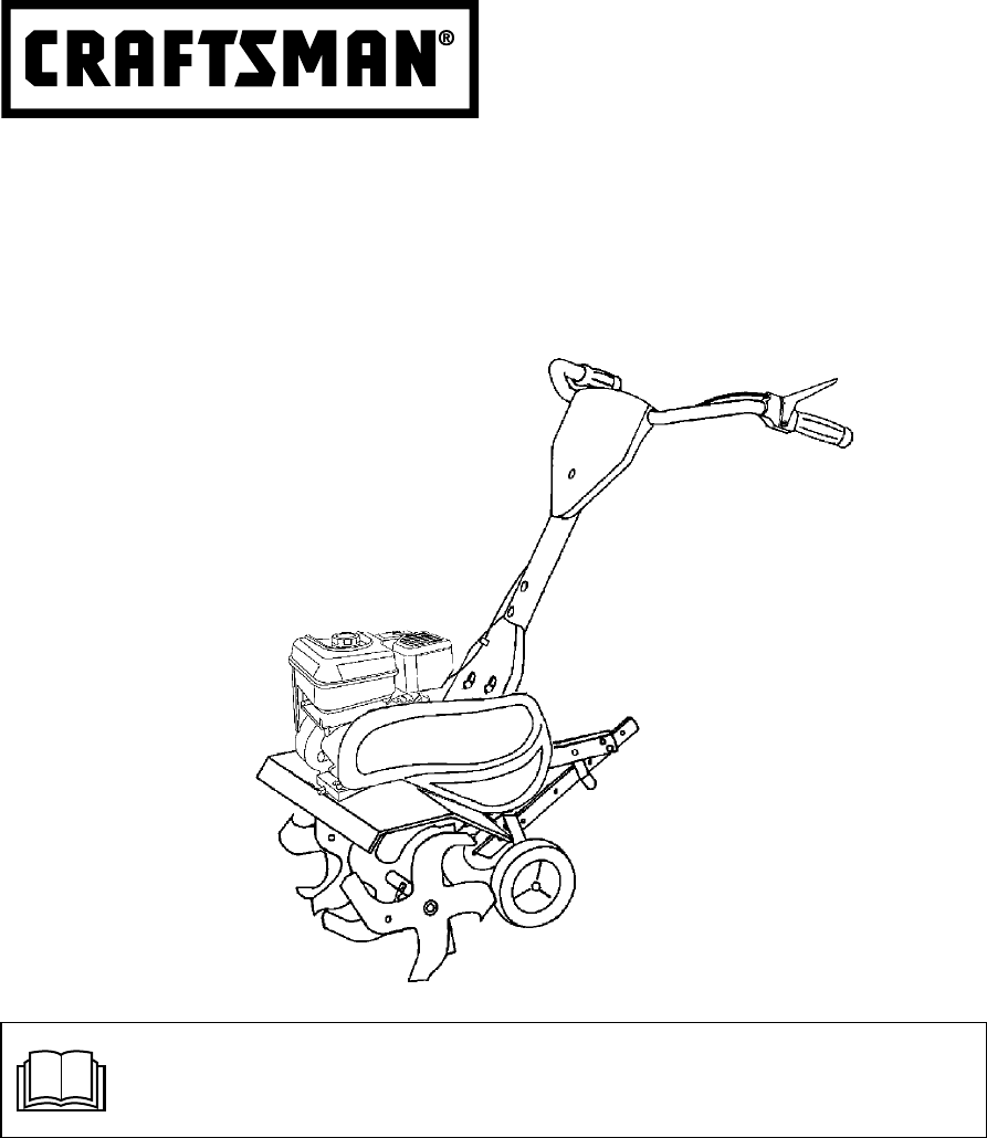 Craftsman 5 Hp 24 Tiller Manual : Sears tiller  user guide manualsonline