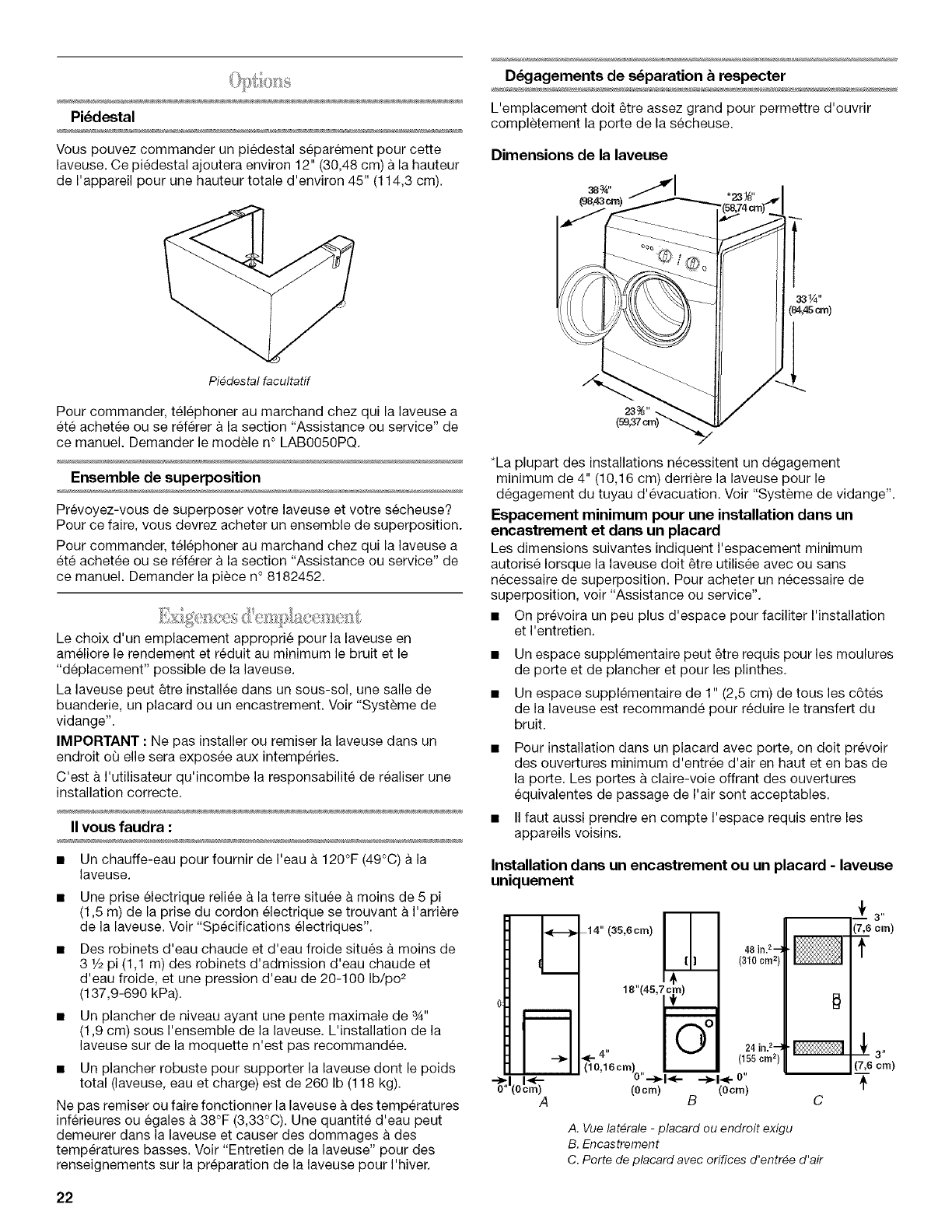 page 22 of inglis home appliances washer washer user guide rh laundry manualsonline com Energy Guide Appliance Repair Man