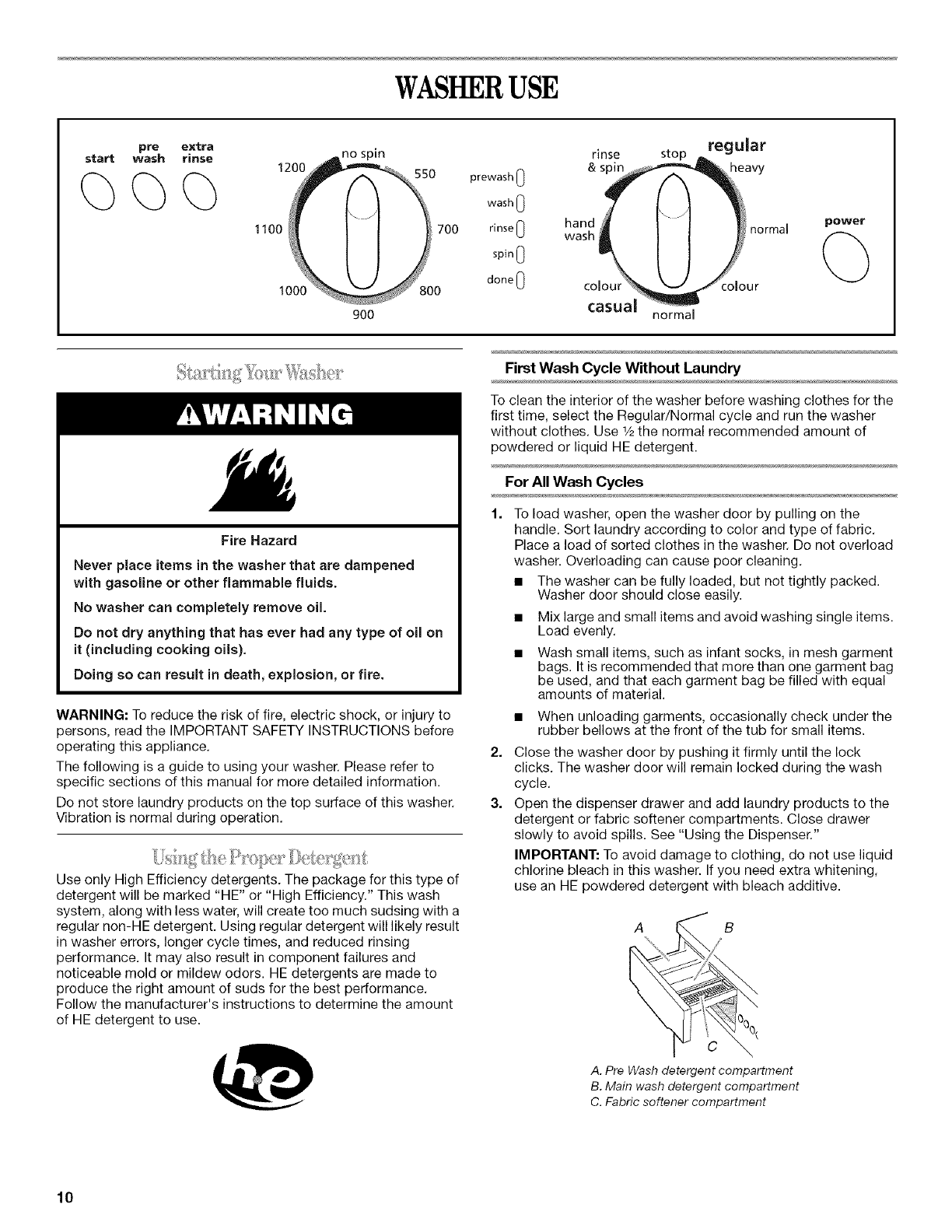 page 10 of inglis home appliances washer washer user guide rh laundry manualsonline com Coloplast Measuring Guide Coloplast Measuring Guide
