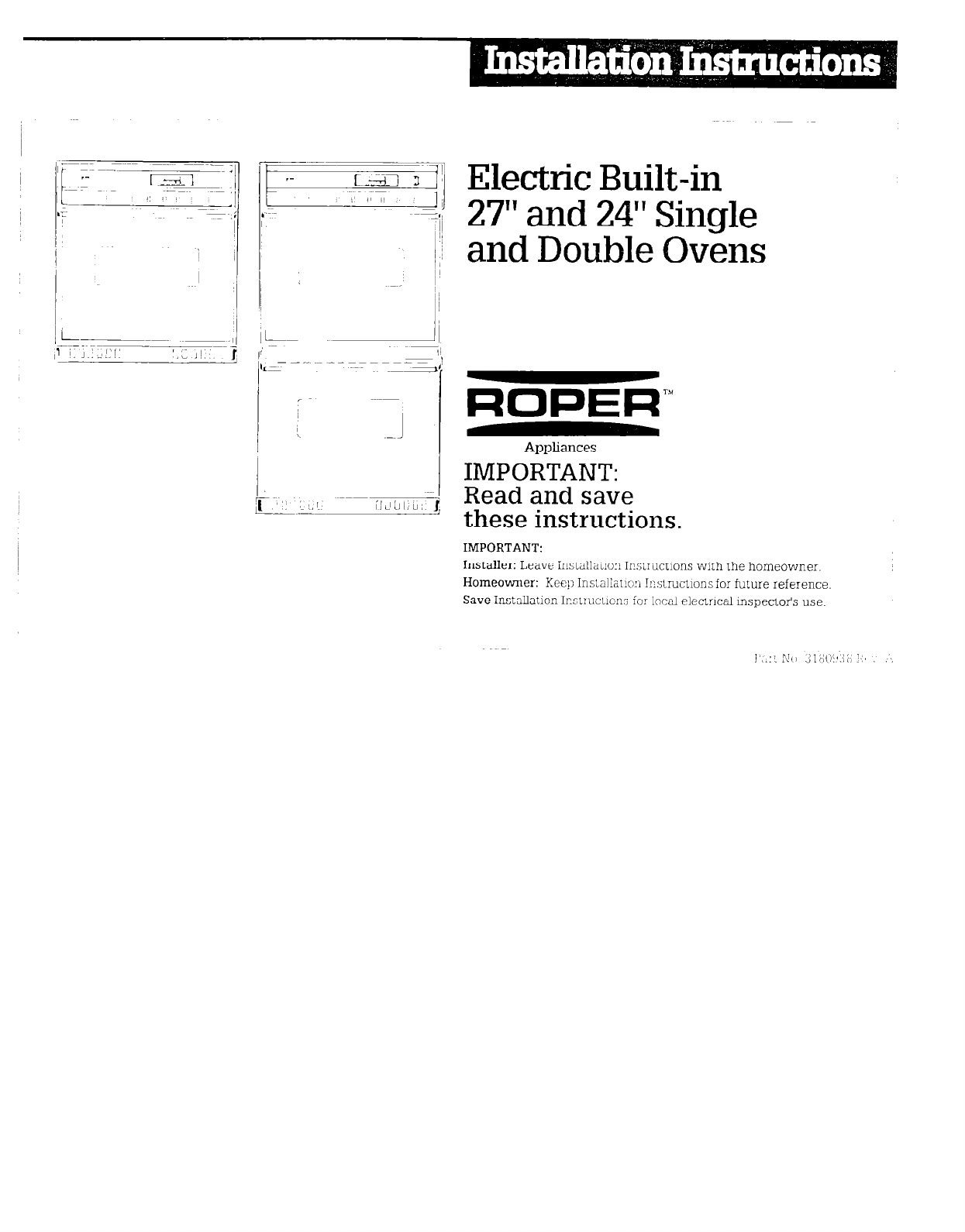 Roper Double Oven User Guide Manualsonlinecom Electric Dryer Wiring Diagram For A Built In