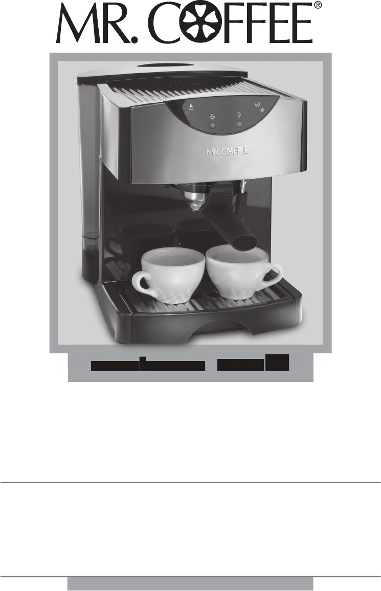 Mr. Coffee Coffeemaker ECMP50 User Guide ManualsOnline.com
