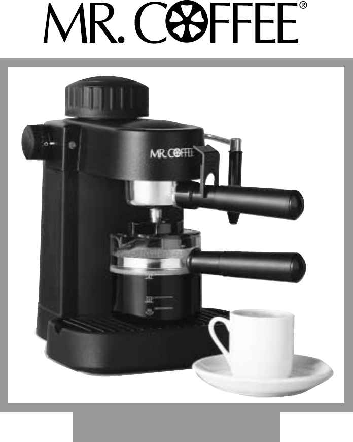 Coffee Maker Instructions : Mr. Coffee Espresso Maker ECM10 User Guide ManualsOnline.com