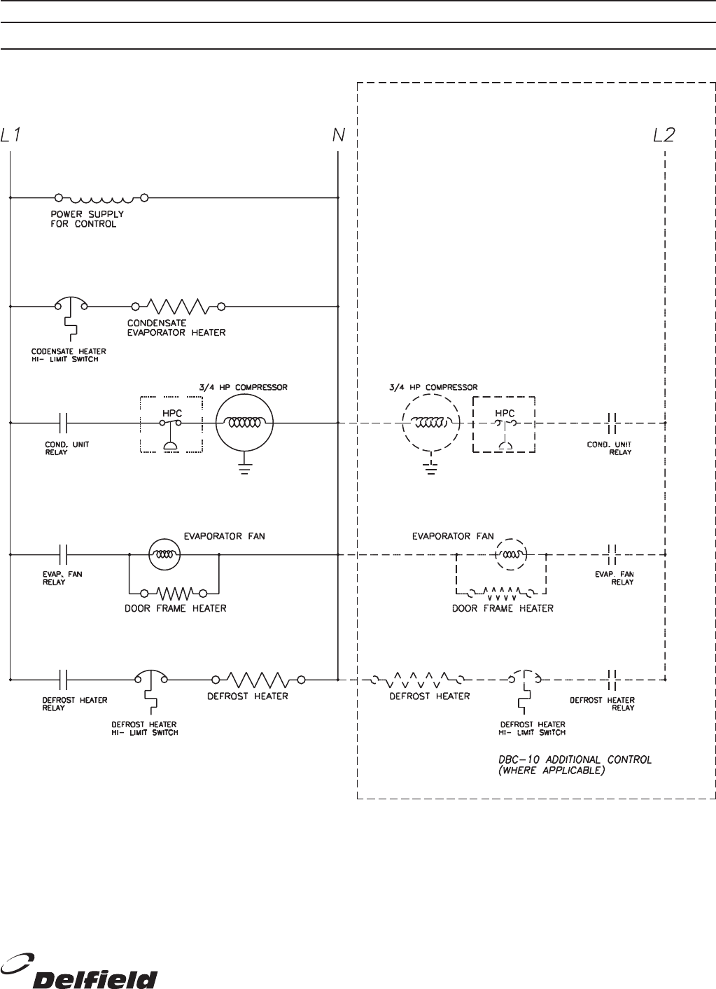 [SCHEMATICS_4FR]  Page 7 of Delfield Refrigerator DBC-10 User Guide | ManualsOnline.com | Delfield Refrigerator Wiring Diagram |  | Kitchen Appliance Manuals - ManualsOnline.com