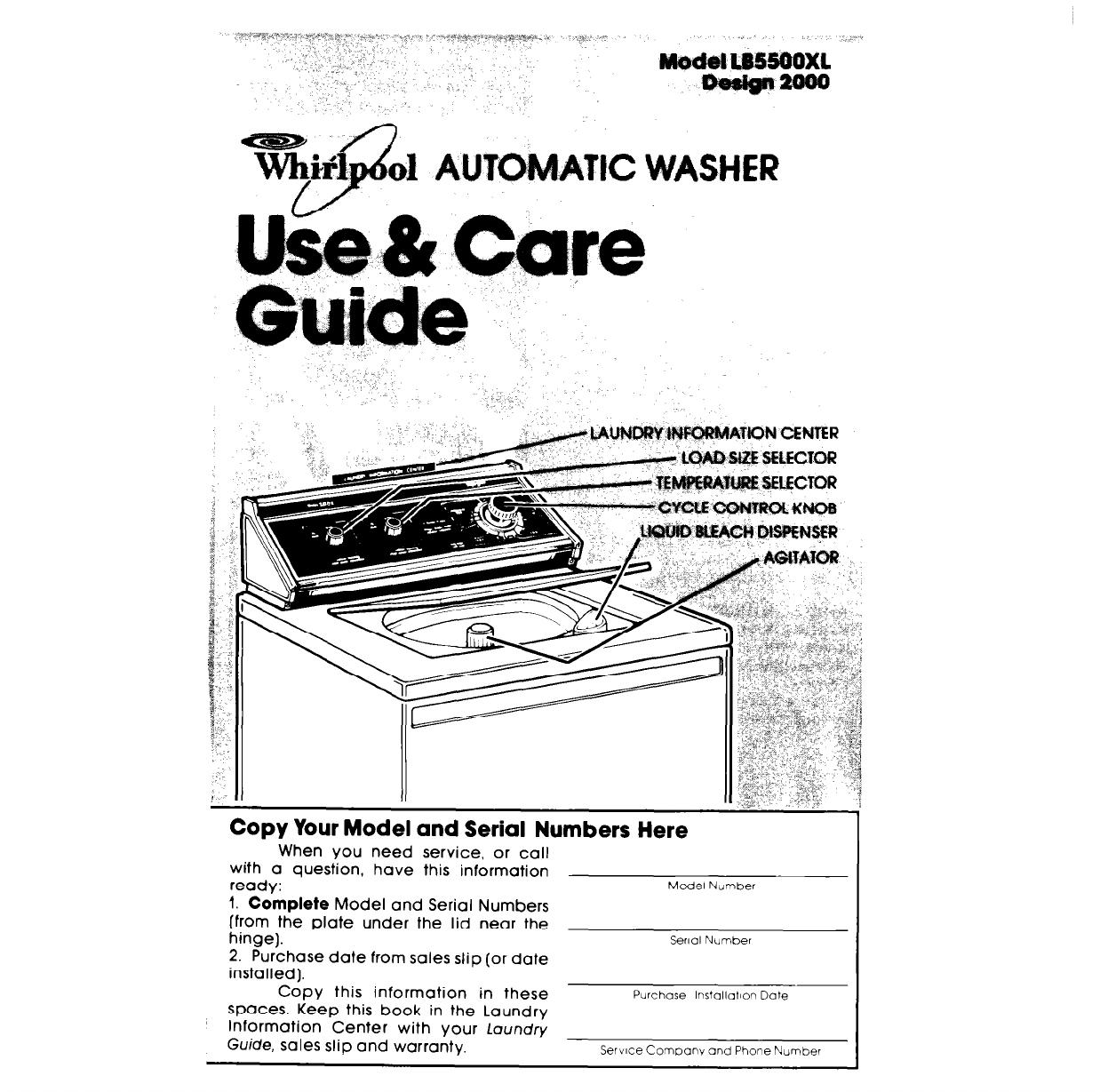 Whirlpool washer repair manual pdf