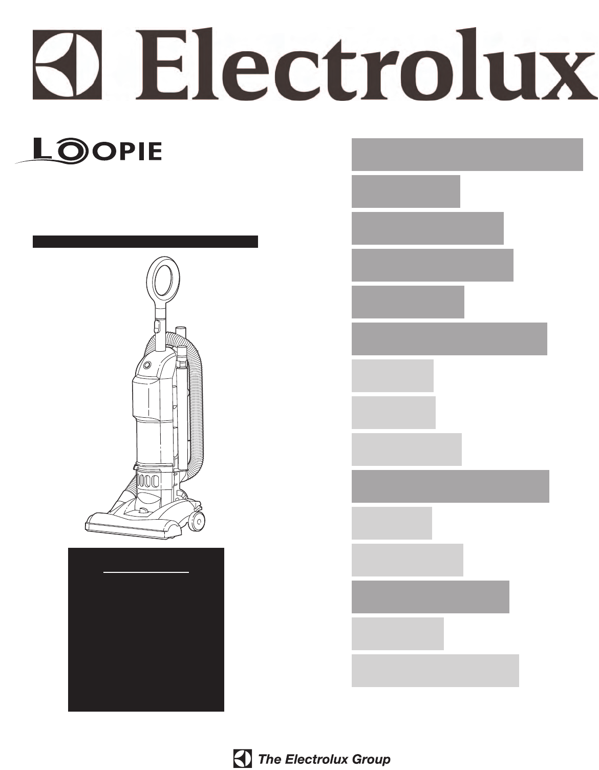Electrolux Vacuum Cleaner Z2950 Series User Guide