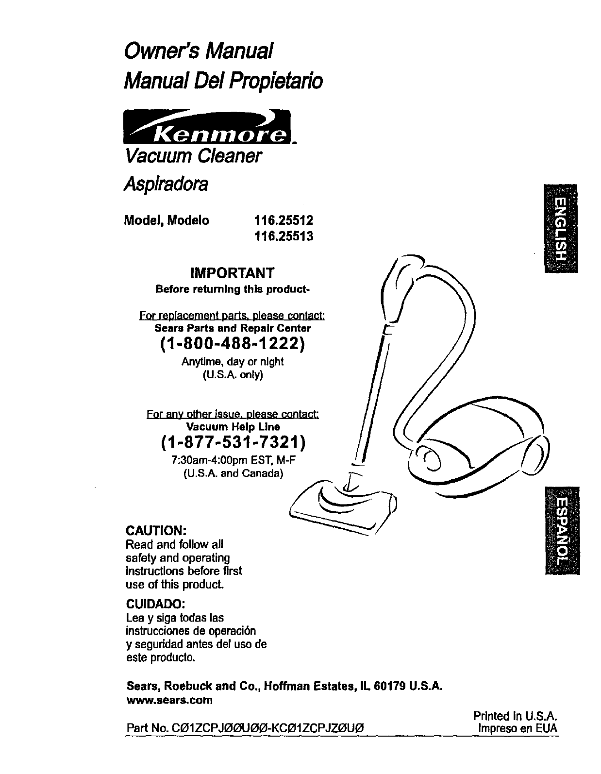 kenmore vacuum cleaner 116 25512 user guide manualsonline com rh homeappliance manualsonline com kenmore vacuum manual model 116 canister kenmore vacuum manual model 116 canister
