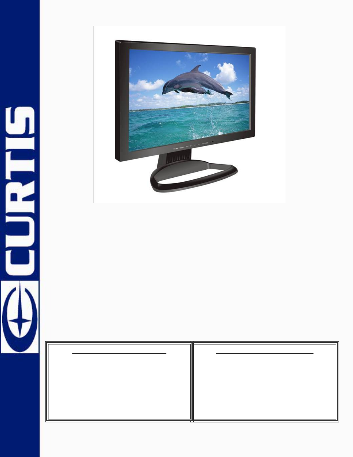 curtis flat panel television lcd1701a user guide manualsonline com rh tv manualsonline com Curtis TV DVD Combo Who Manufactures Curtis TV