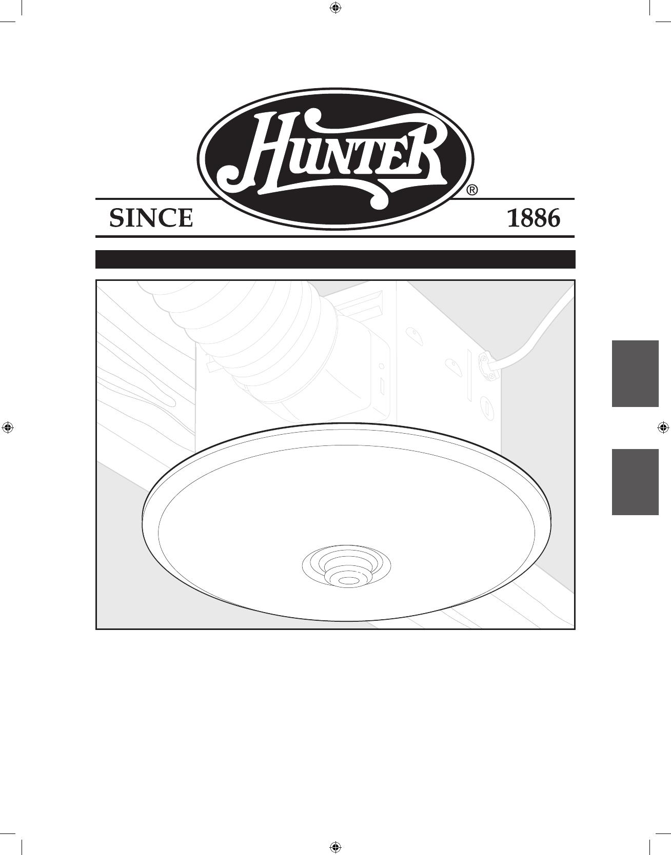hunter fan ventilation hood 90055 user guide