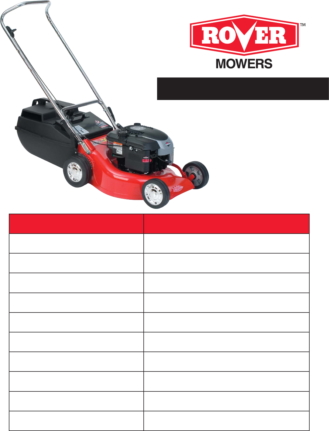 rover lawn mower 35m92 user guide manualsonline com rh lawnandgarden manualsonline com NASA Rover rover 45 lawn mower repair manual
