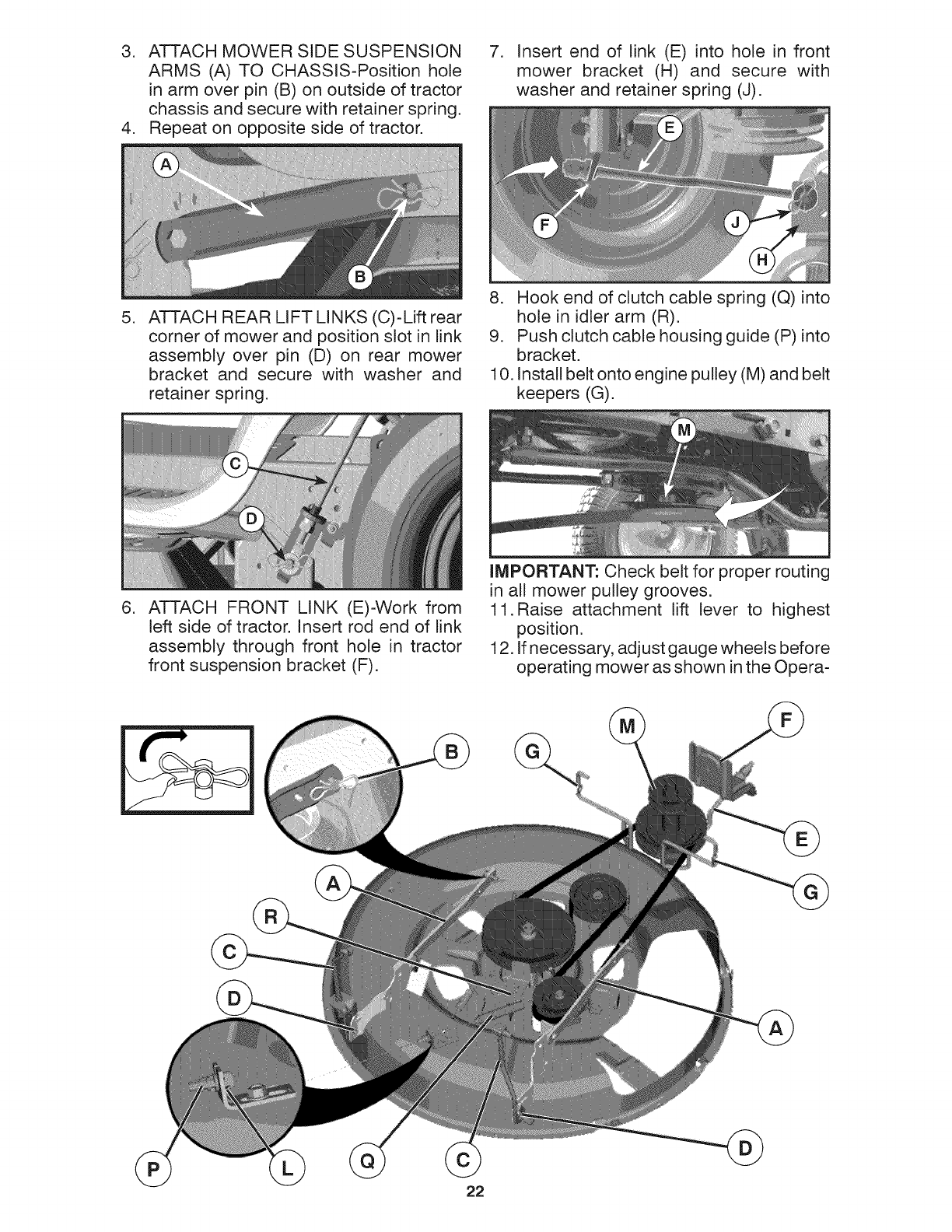 Electric Pto Clutch Craftsman Retaining Pin : Page of craftsman lawn mower  user guide