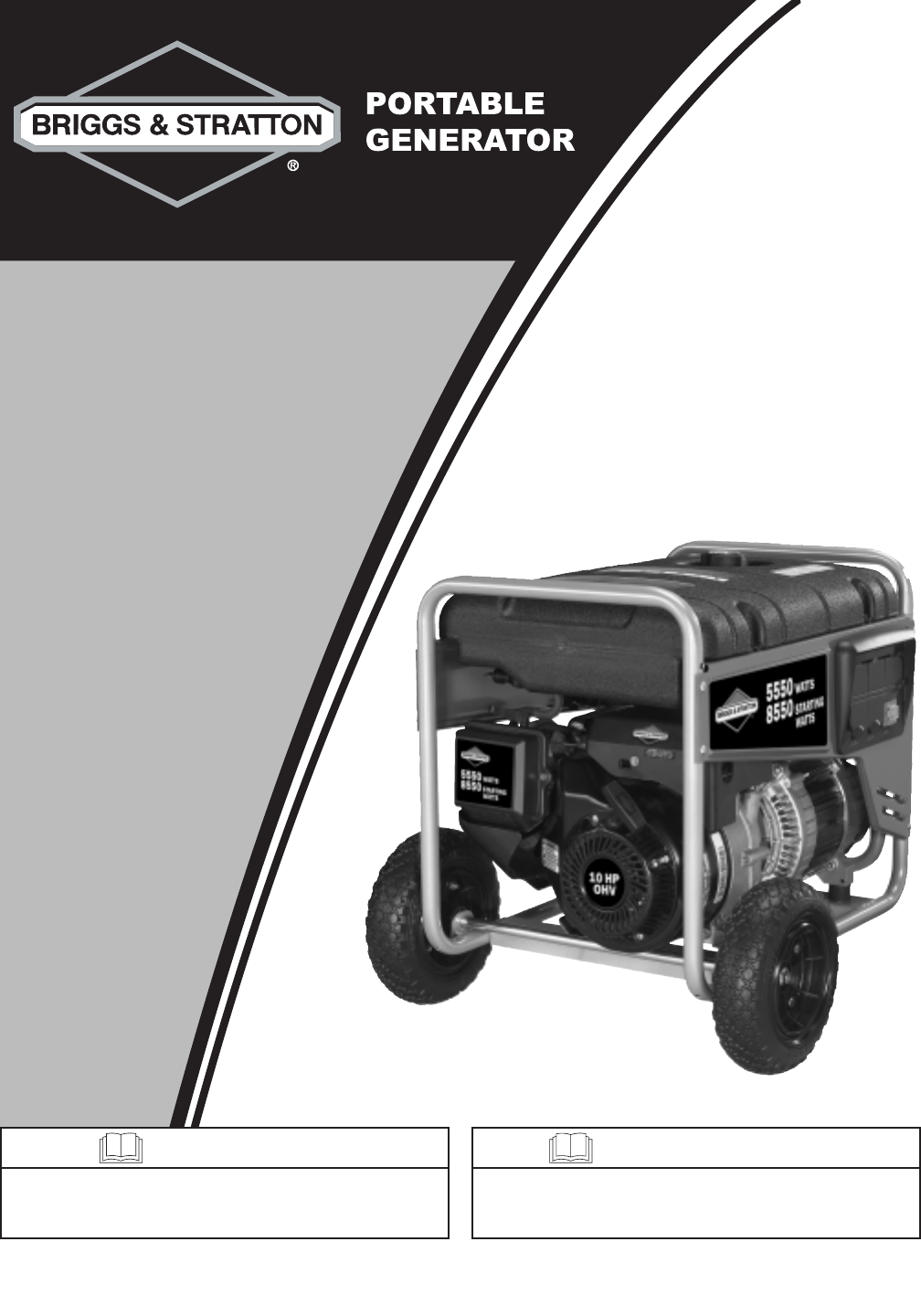 briggs stratton portable generator 030235 01 user guide rh lawnandgarden manualsonline com briggs & stratton 5000 watt portable generator manual briggs & stratton portable generator repair manual