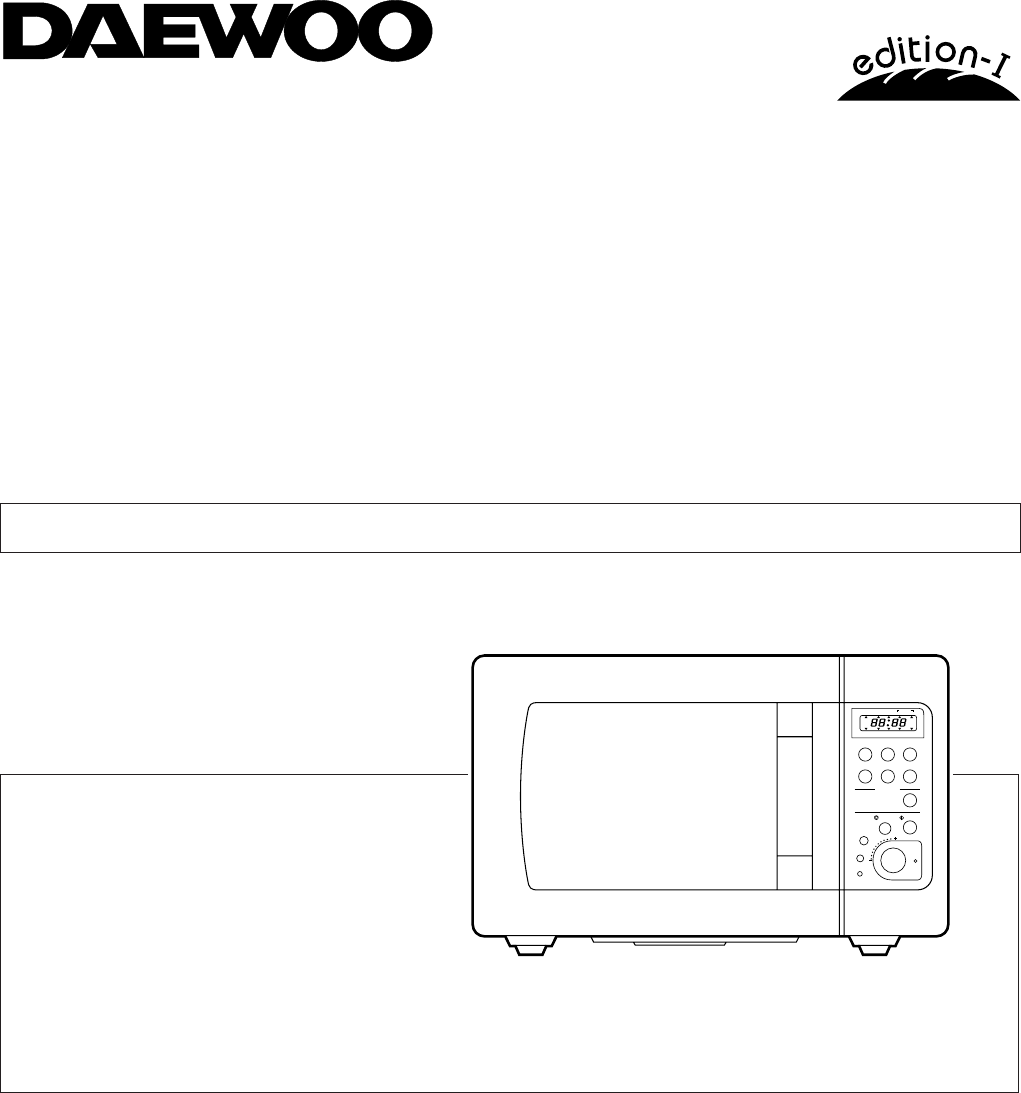 Daewoo Koc980t Convection Oven User Manual