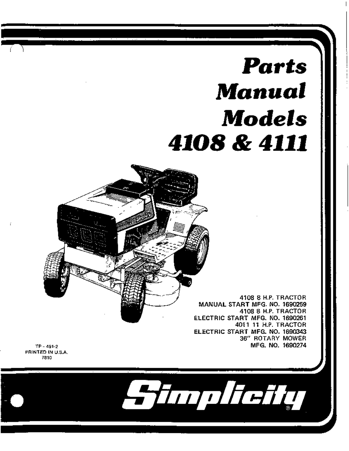 simplicity tractor mower manual user guide manual that easy to read u2022 rh sibere co Simplicity Rider Mower Parts Simplicity Mower Repair