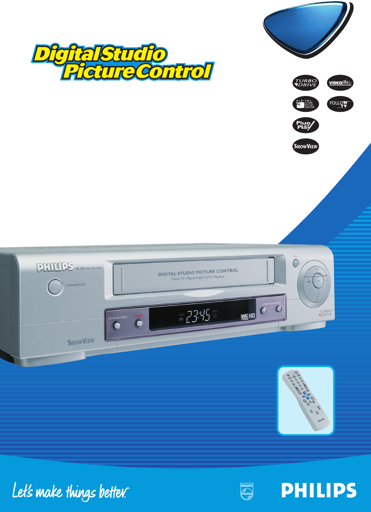 philips vcr vr 330 user guide manualsonline com rh tv manualsonline com Philips User Guides Speaker Bt7900 Philips Universal Remote User Manual