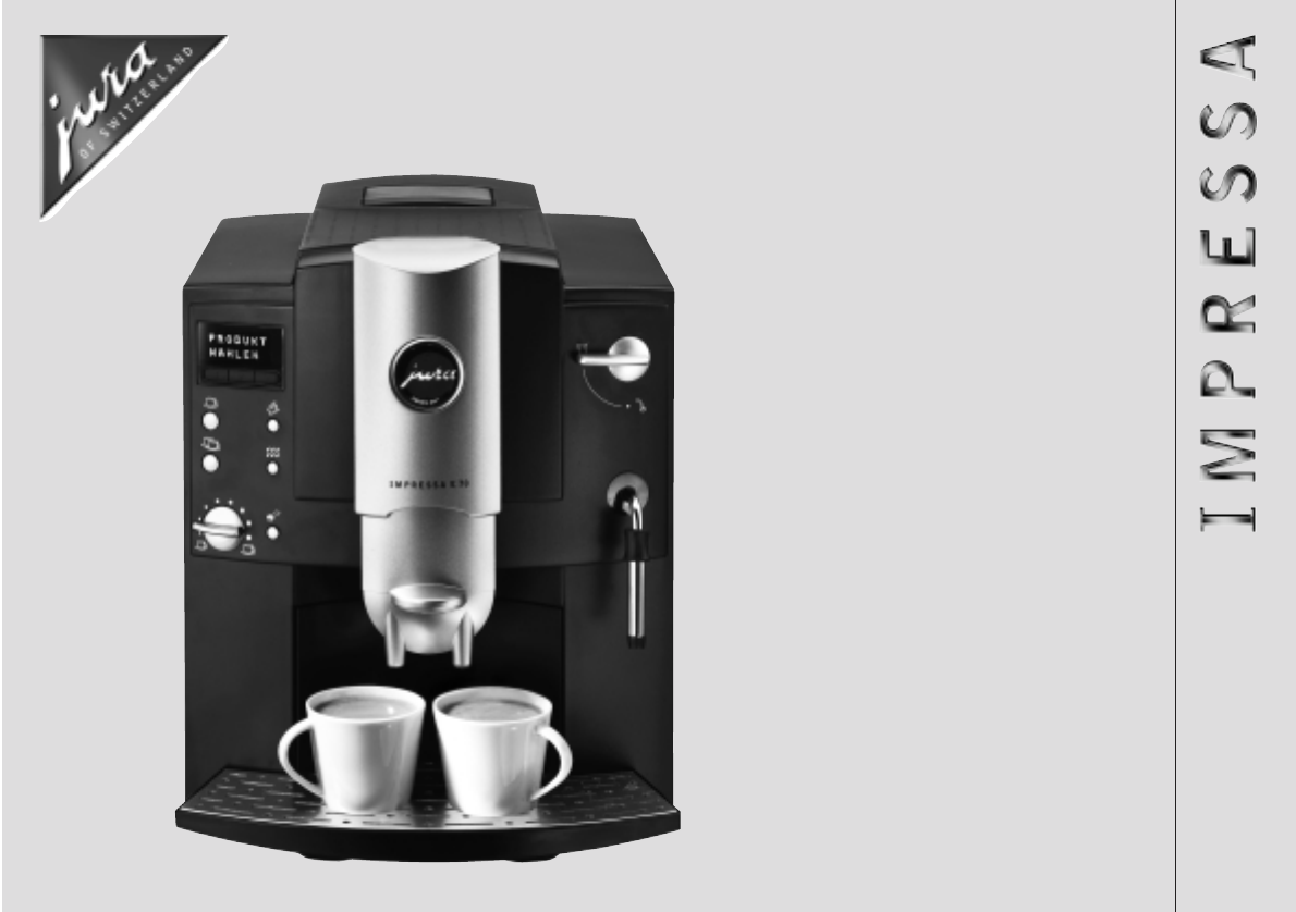 Jura Coffee Maker Manual : Jura Capresso Espresso Maker E75 User Guide ManualsOnline.com