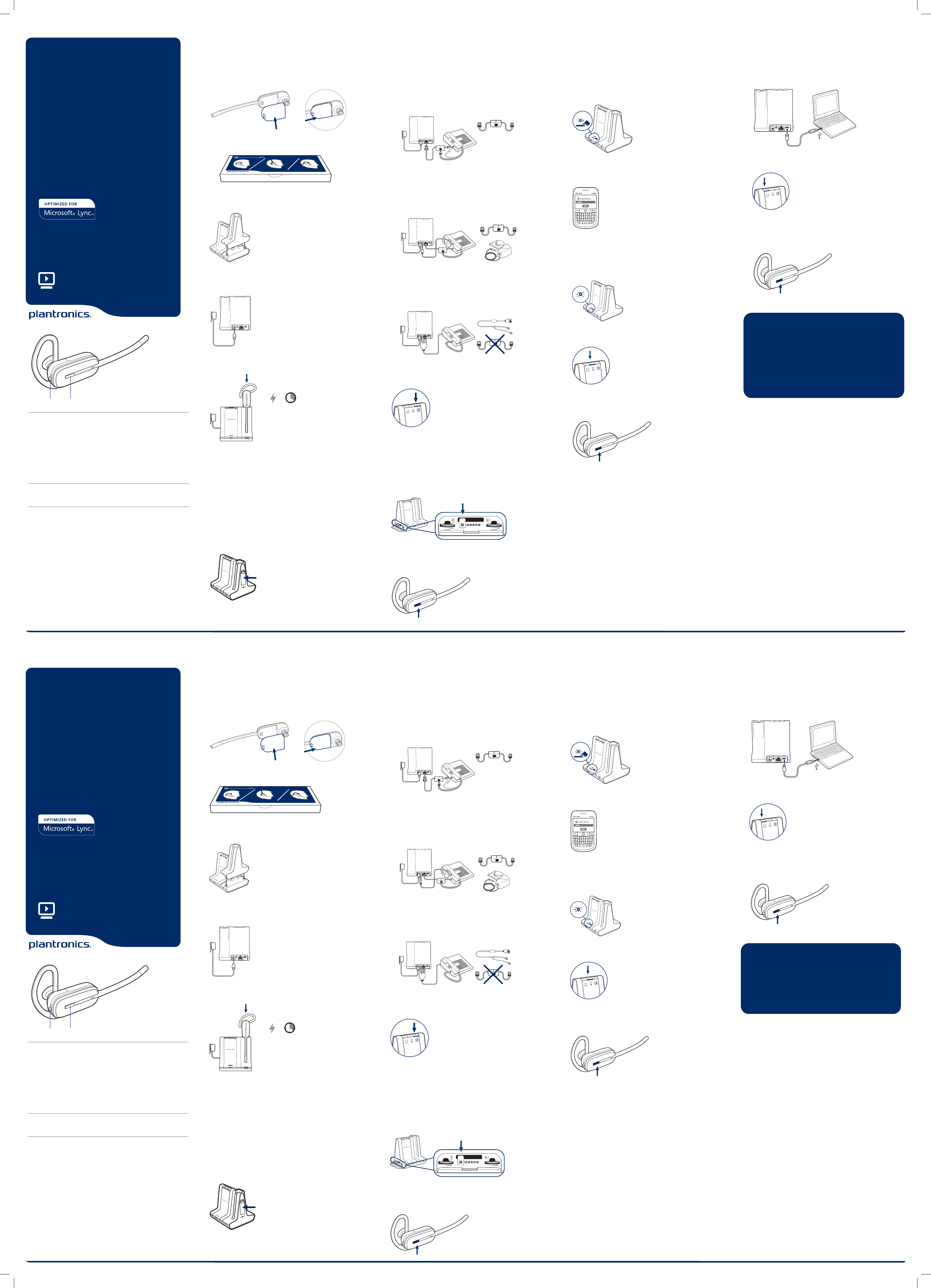 Page 2 of Plantronics Bluetooth Headset W740S-M User Guide