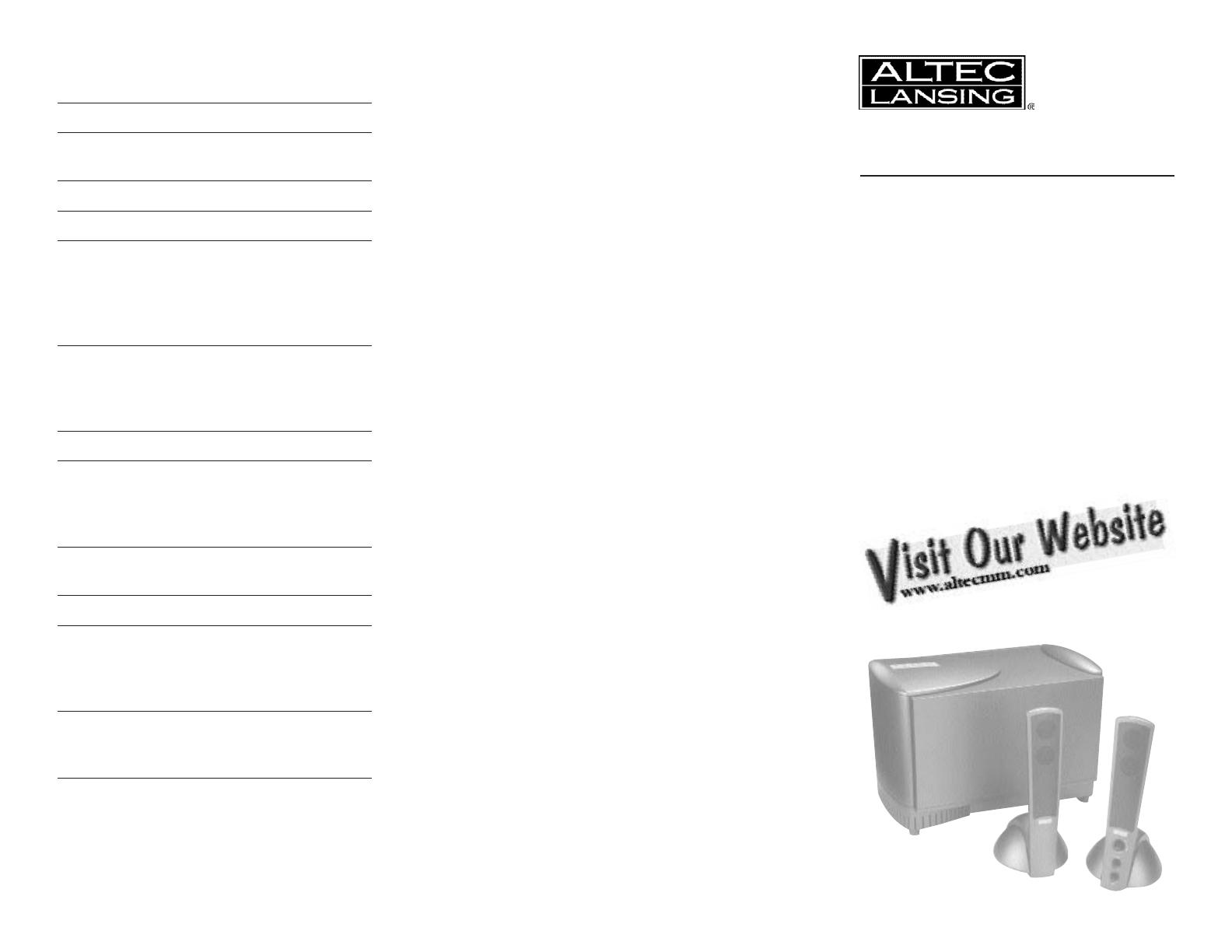 altec lansing atp3 manual daily instruction manual guides u2022 rh testingwordpress co altec lansing owners manual