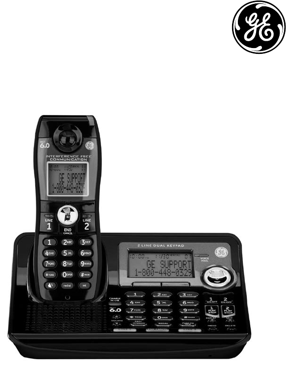 ge cordless telephone 28165xx4 user guide manualsonline com rh phone manualsonline com GE Cordless Landline Wall Phone GE Wall Mount Cordless Phone