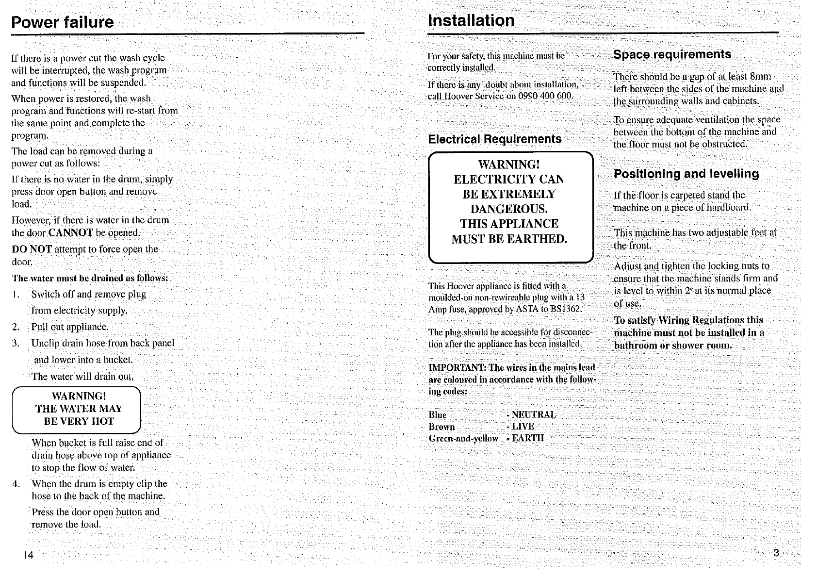 Page 3 Of Hoover Washer Dryer Ac110 User Guide Manualsonlinecom Washing Machine Wiring Diagram 8