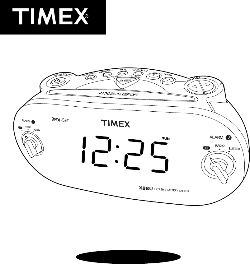 Timex Clock Radio T 715 User Guide Manualsonline