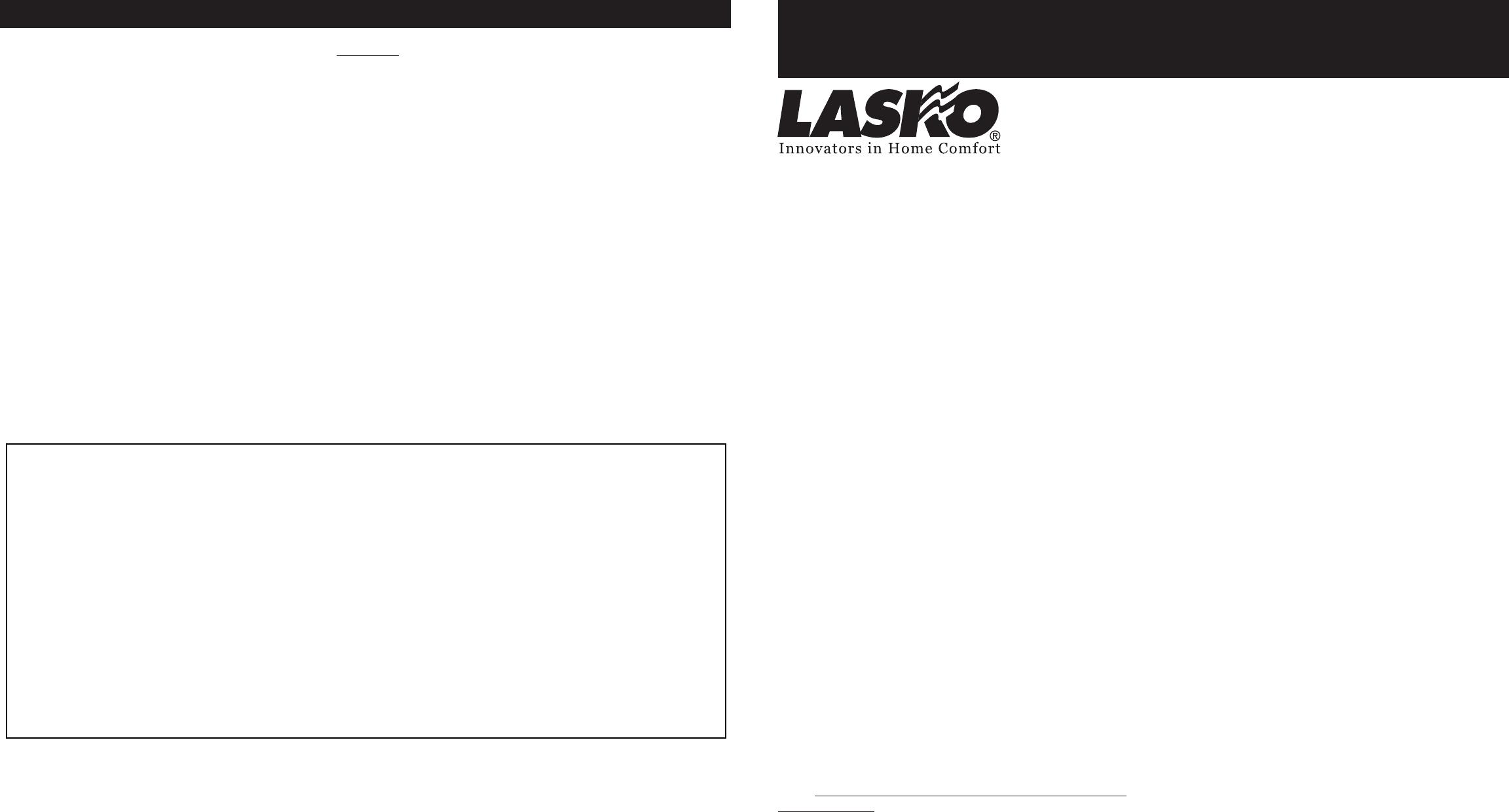 lasko fan user guide com rev a 11 04 1