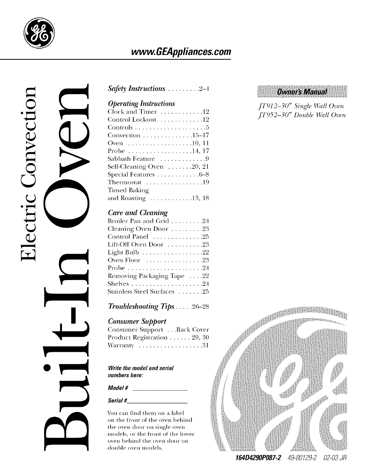 Ge oven j7912 30 user guide manualsonline geappliances publicscrutiny