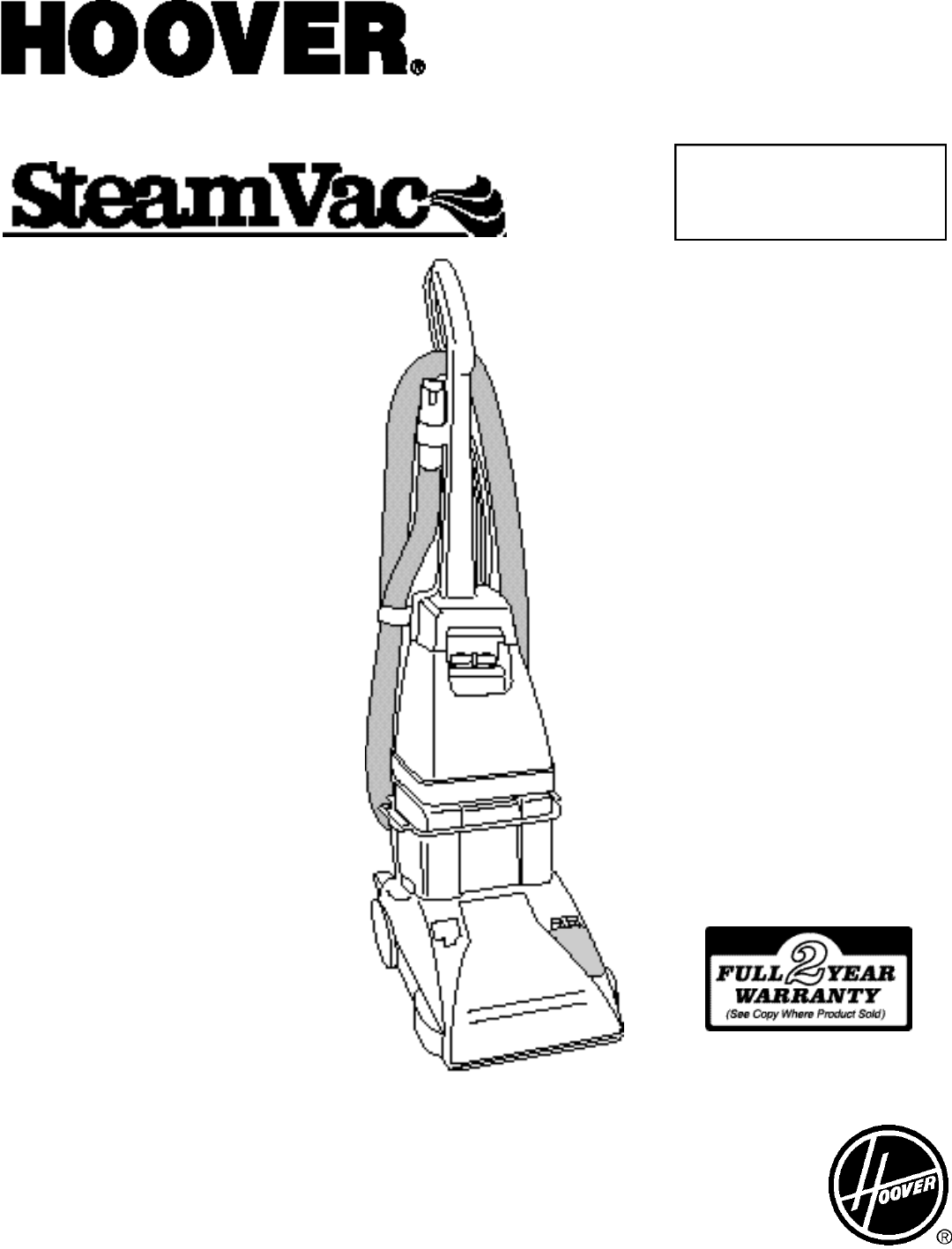 Hoover steamvac deluxe f5855 manual