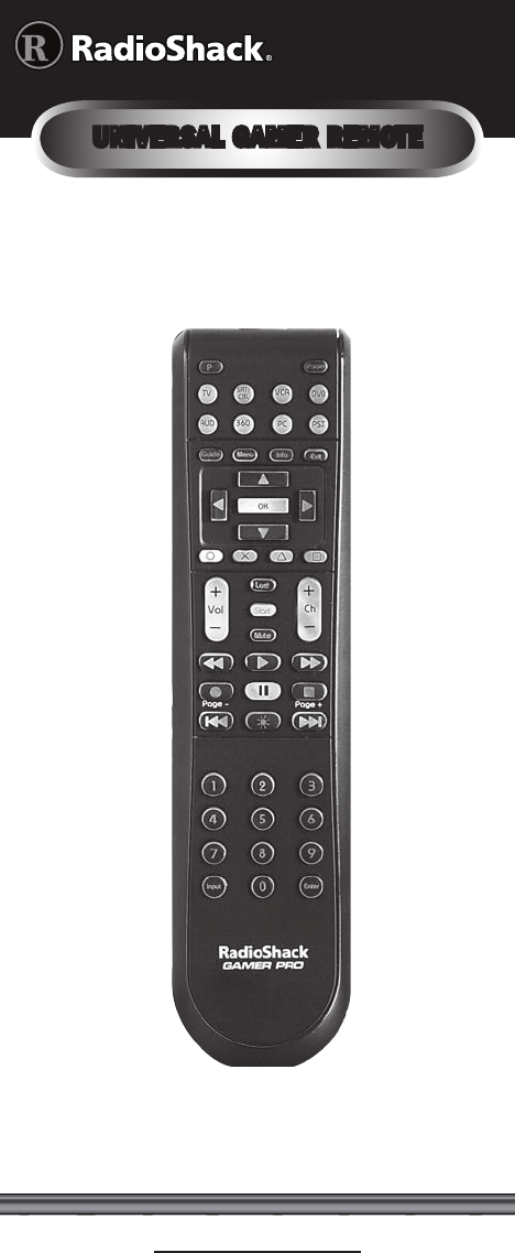 radio shack universal remote 15 133 user guide manualsonline com rh tv manualsonline com Radio Shack 3 in One Remote radio shack universal remote control 15-302 manual