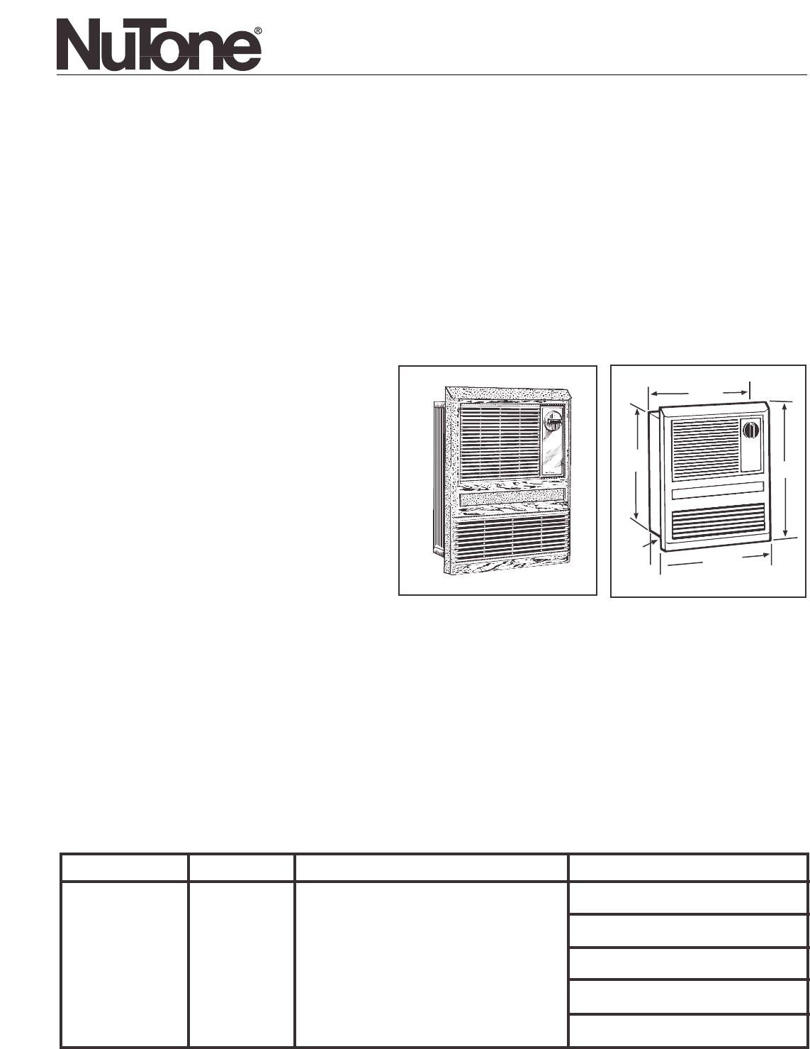 Nutone Wall Heater Wiring Diagram 1550 Schematics