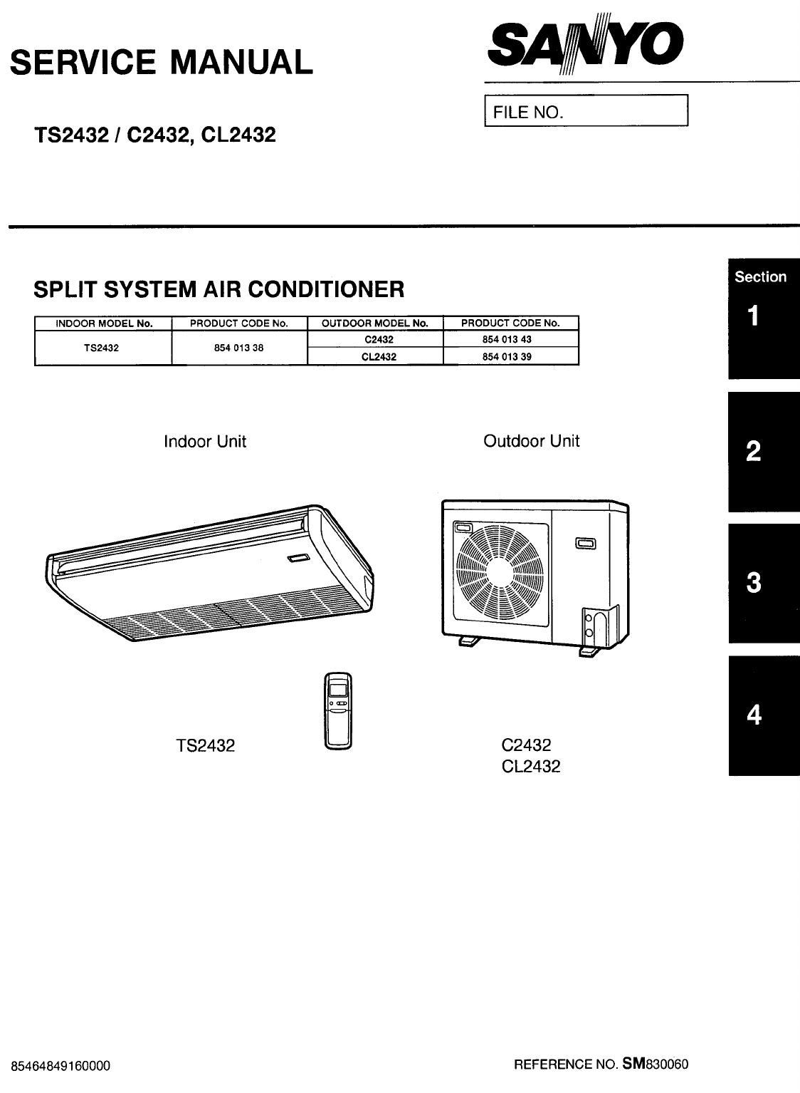 sanyo air conditioner c2432 user guide manualsonline com rh tv manualsonline com sanyo air conditioner manual ks1251 sanyo air conditioning remote control manual