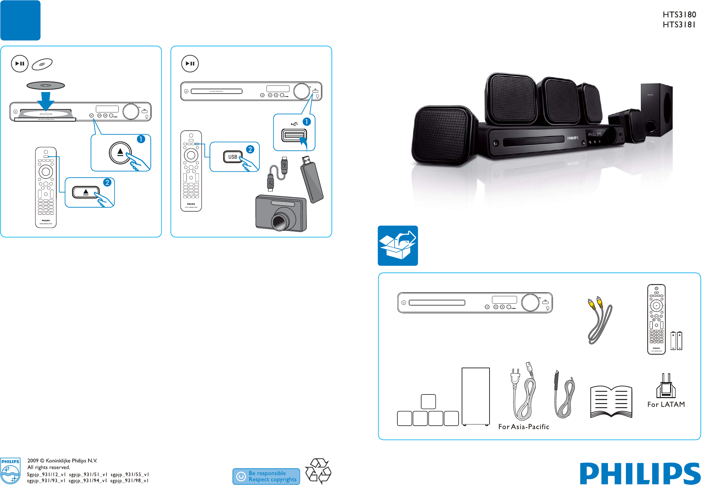 philips home theater system hts3180 user guide manualsonline com rh manualsonline com home theater philips lx3600d manual philips dvd home theater system hts3154 manual