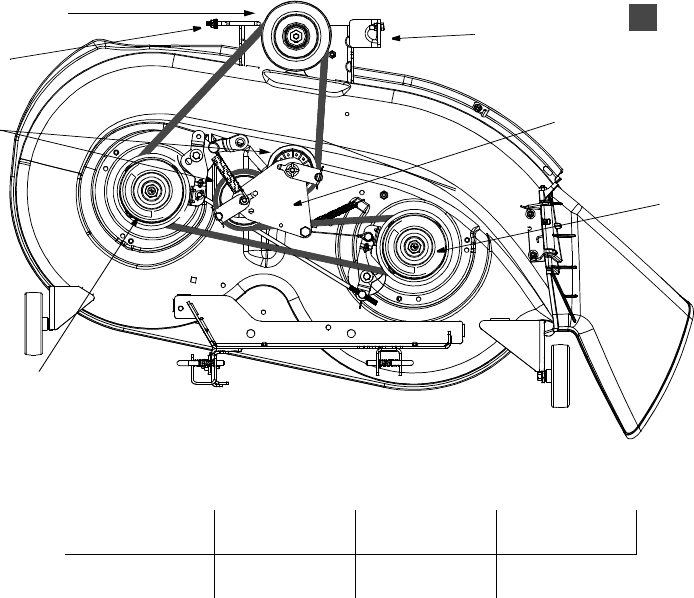 Deck Assembly 42 Inch together with Diagram 1024 Page 17 further Mtd Yard Machine Model 13af6088062 Belt Layout Springs 495588 likewise Electrical System 2989893 additionally Transmission Assembly. on bolens mower deck parts diagram